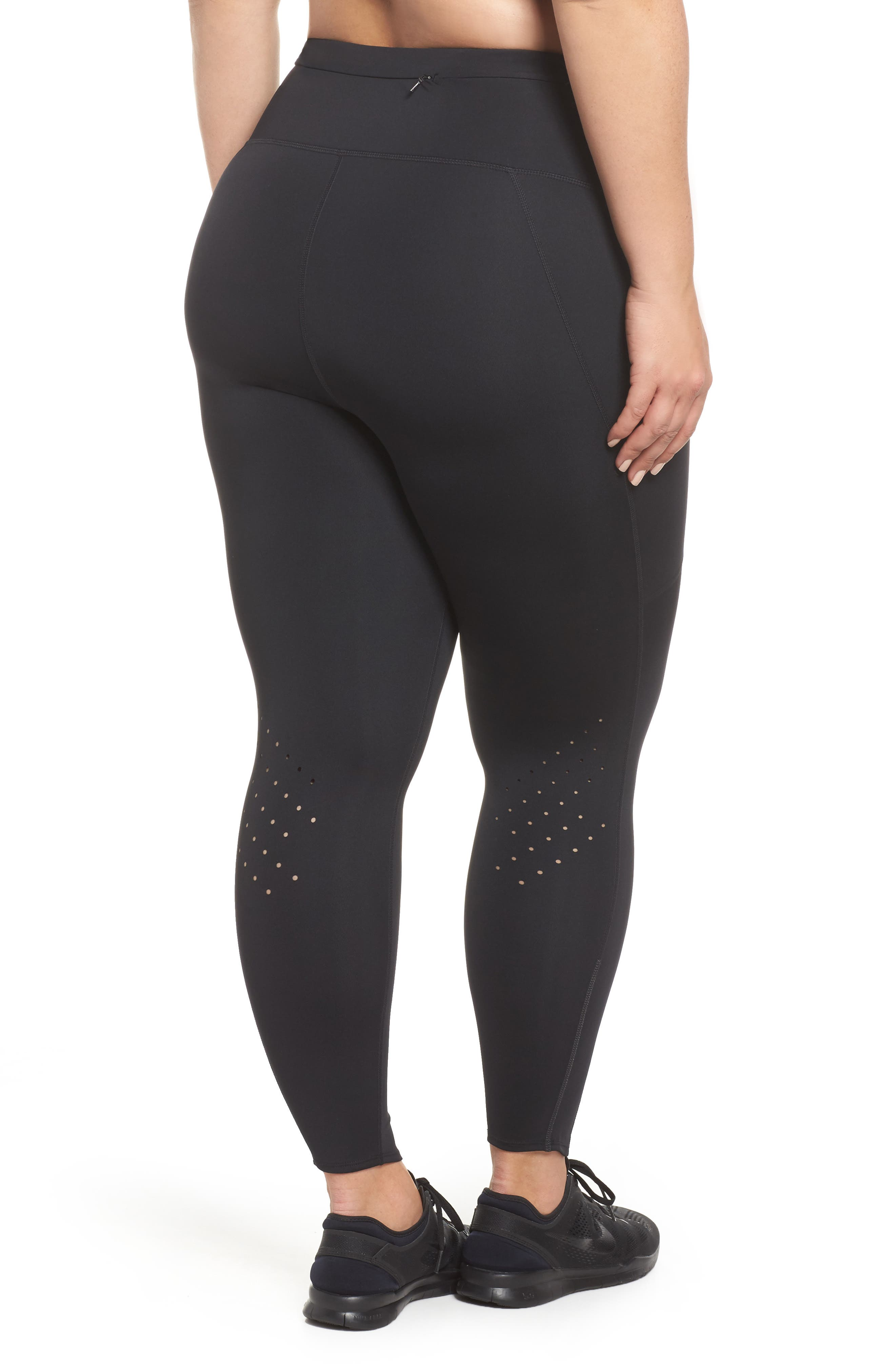 Sprint In High Waist Midi Leggings,                             Alternate thumbnail 2, color,                             BLACK