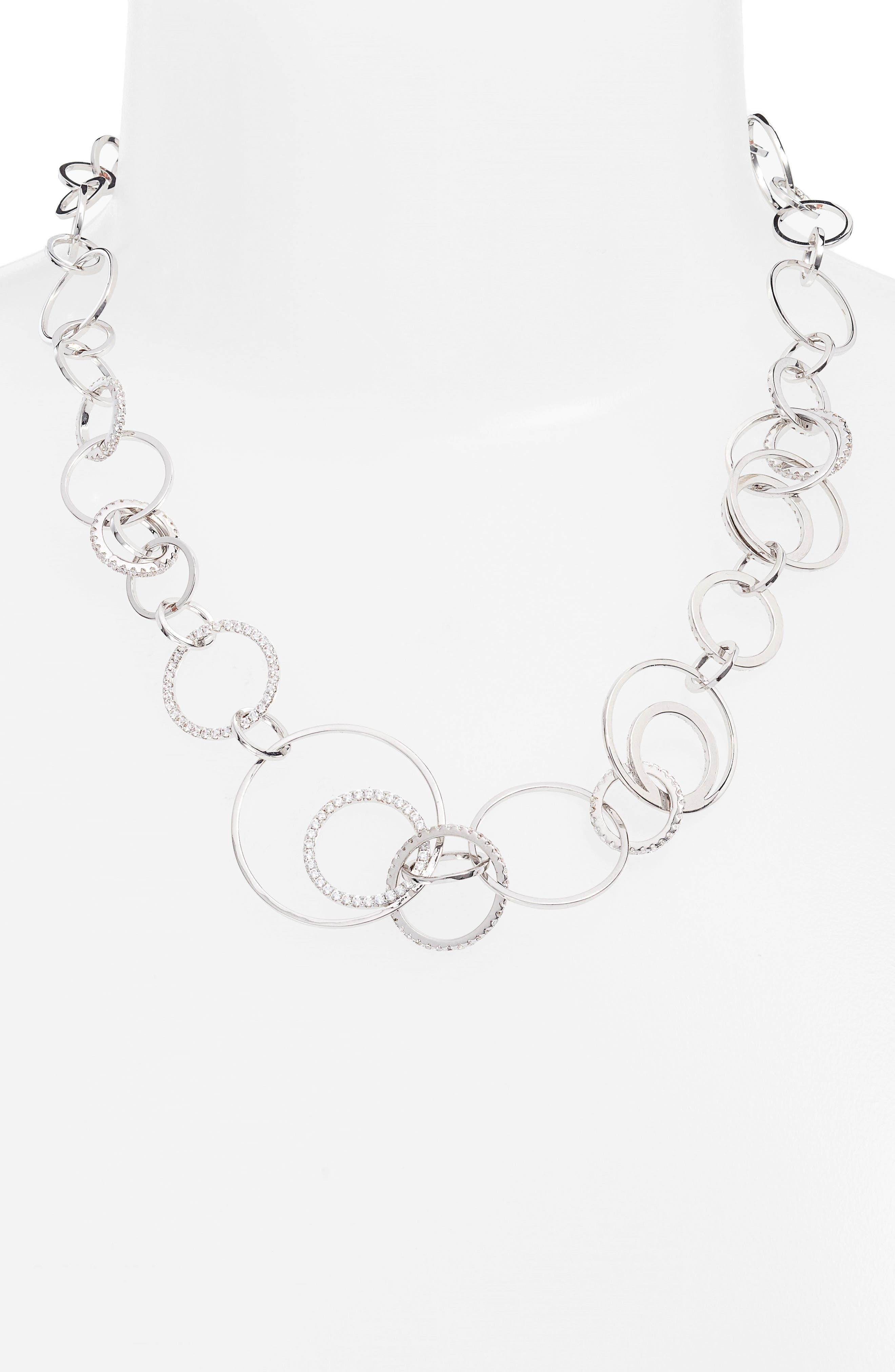 Sarah Cubic Zirconia Collar Necklace,                             Alternate thumbnail 2, color,                             041