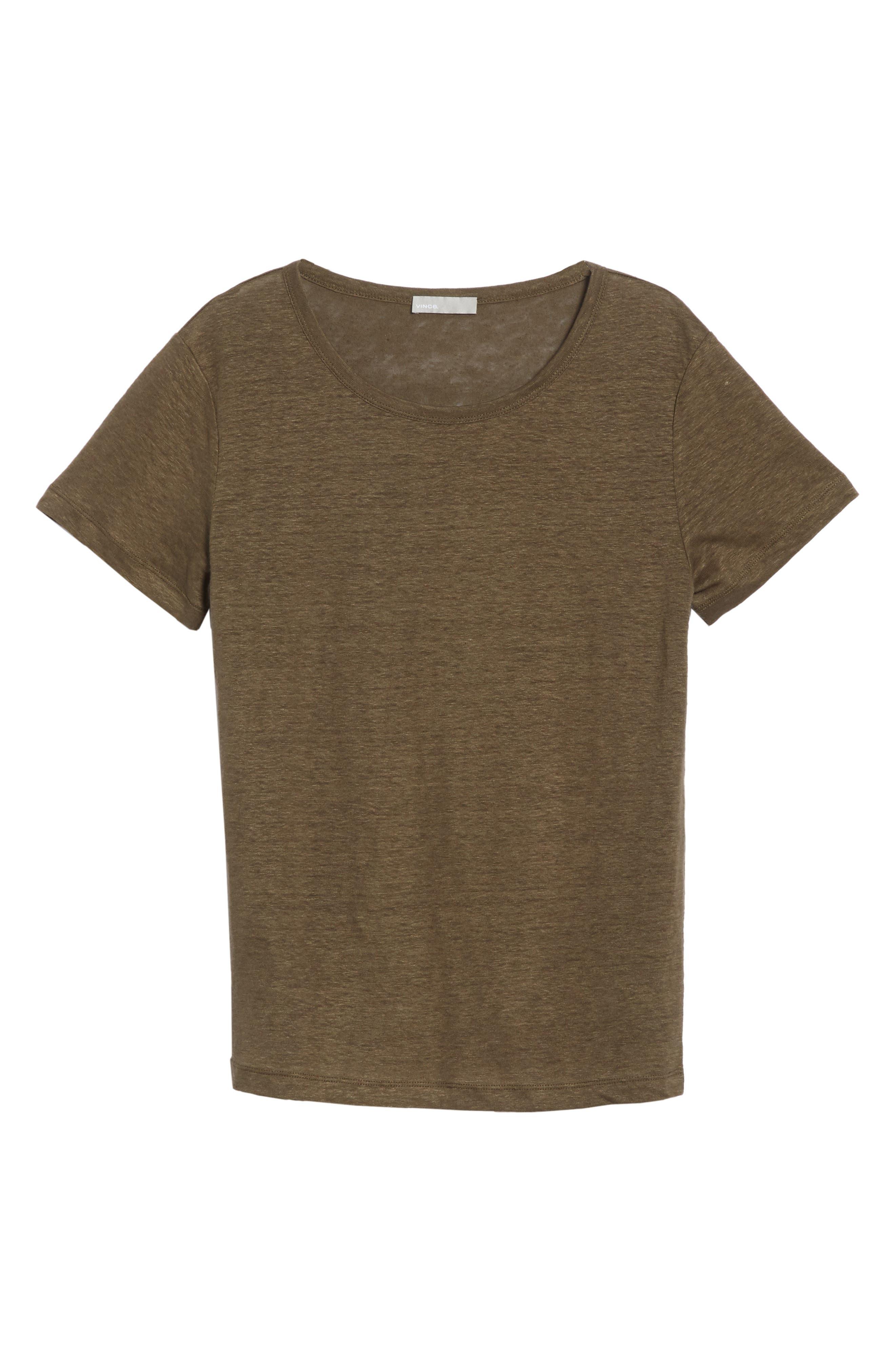 Linen Short Sleeve Top,                             Alternate thumbnail 12, color,