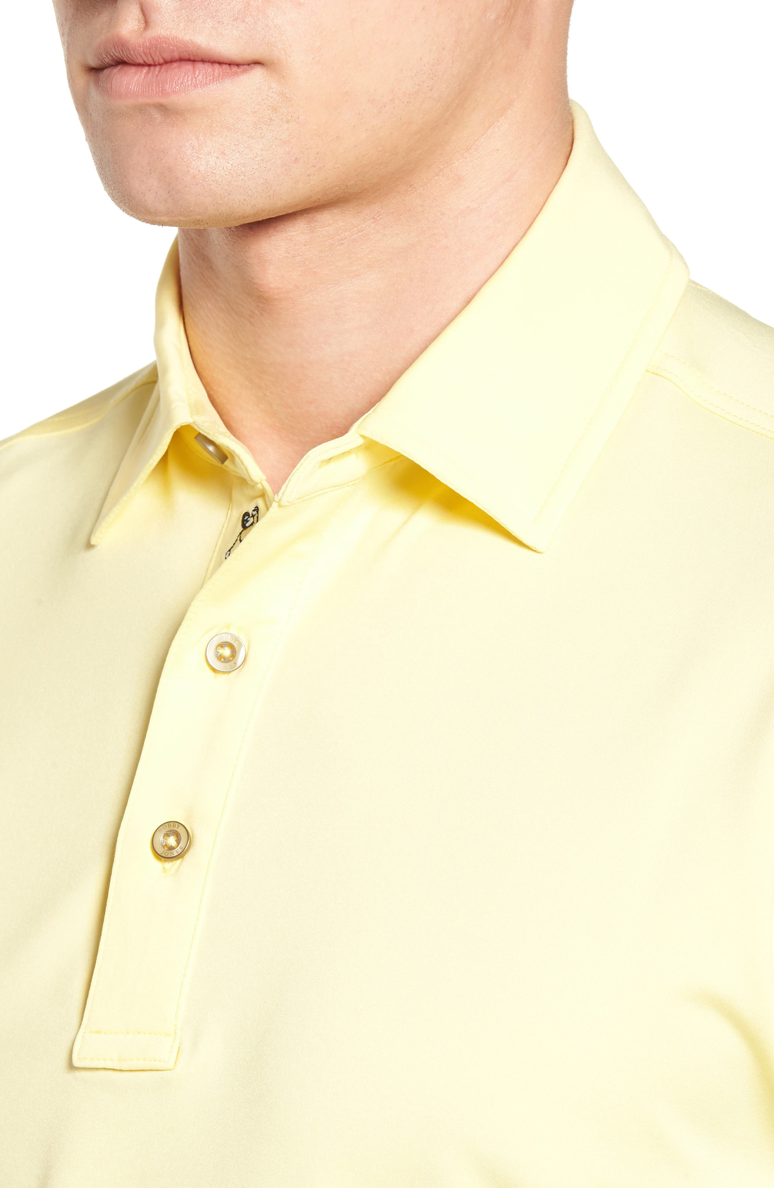 XH20 Regular Fit Stretch Golf Polo,                             Alternate thumbnail 4, color,                             CANARY