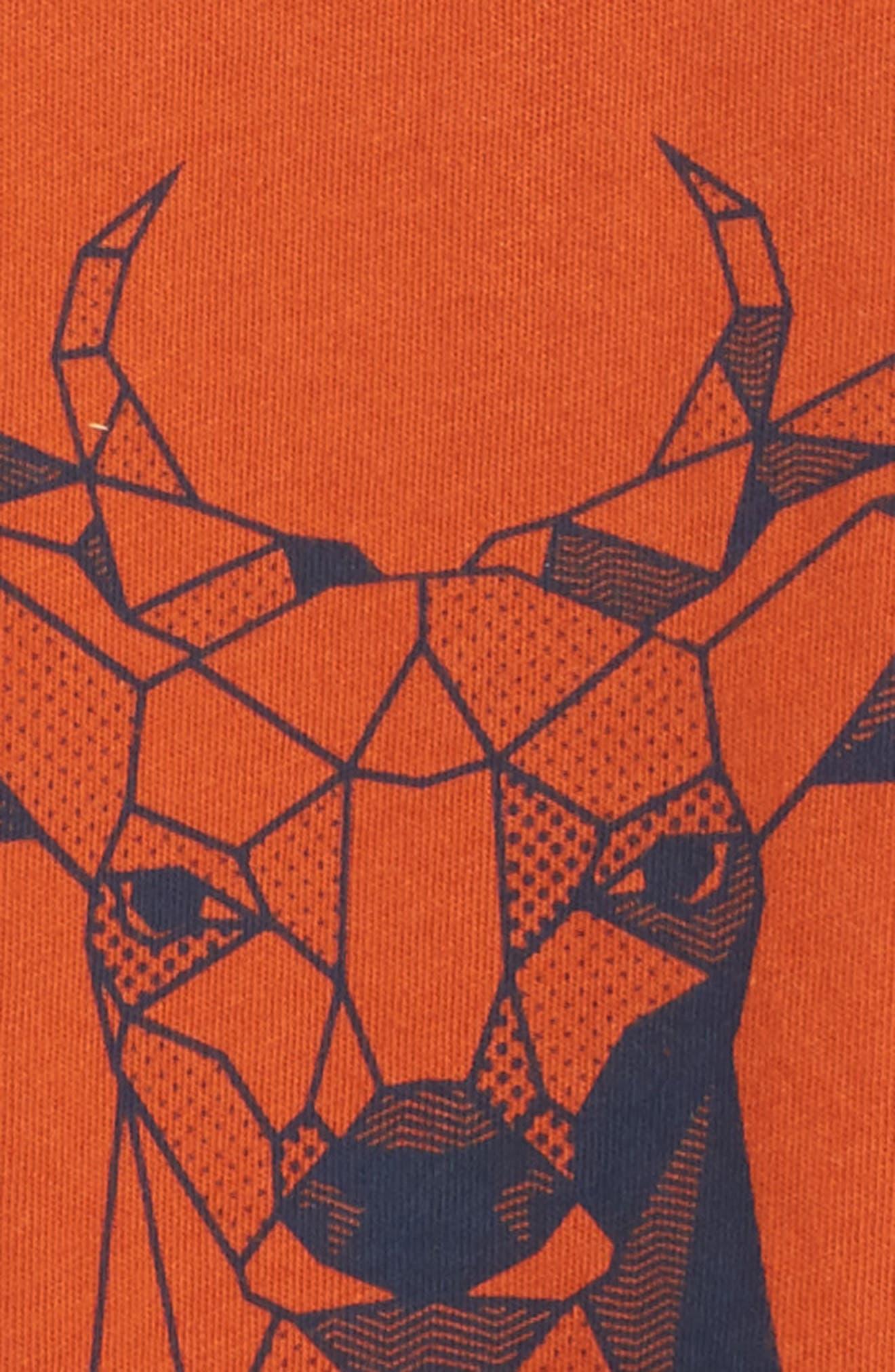 Geo Deer Graphic T-Shirt,                             Alternate thumbnail 3, color,