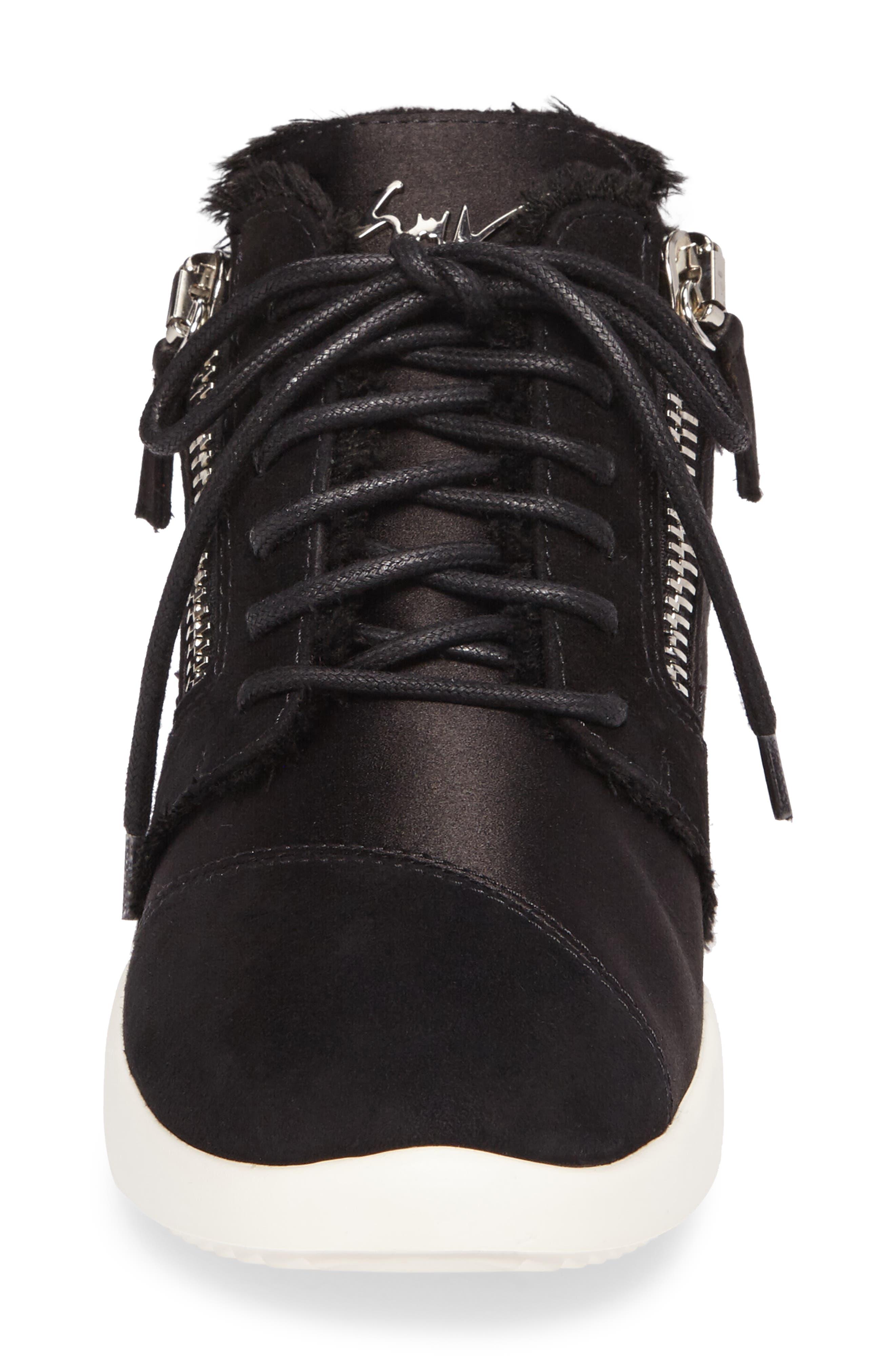 GIUSEPPE ZANOTTI,                             Swarovski Crystal Embellished Sneaker,                             Alternate thumbnail 4, color,                             001
