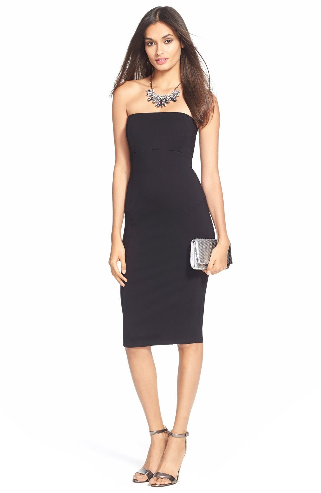 Brianna Strapless Knit Body-Con Dress,                             Alternate thumbnail 8, color,