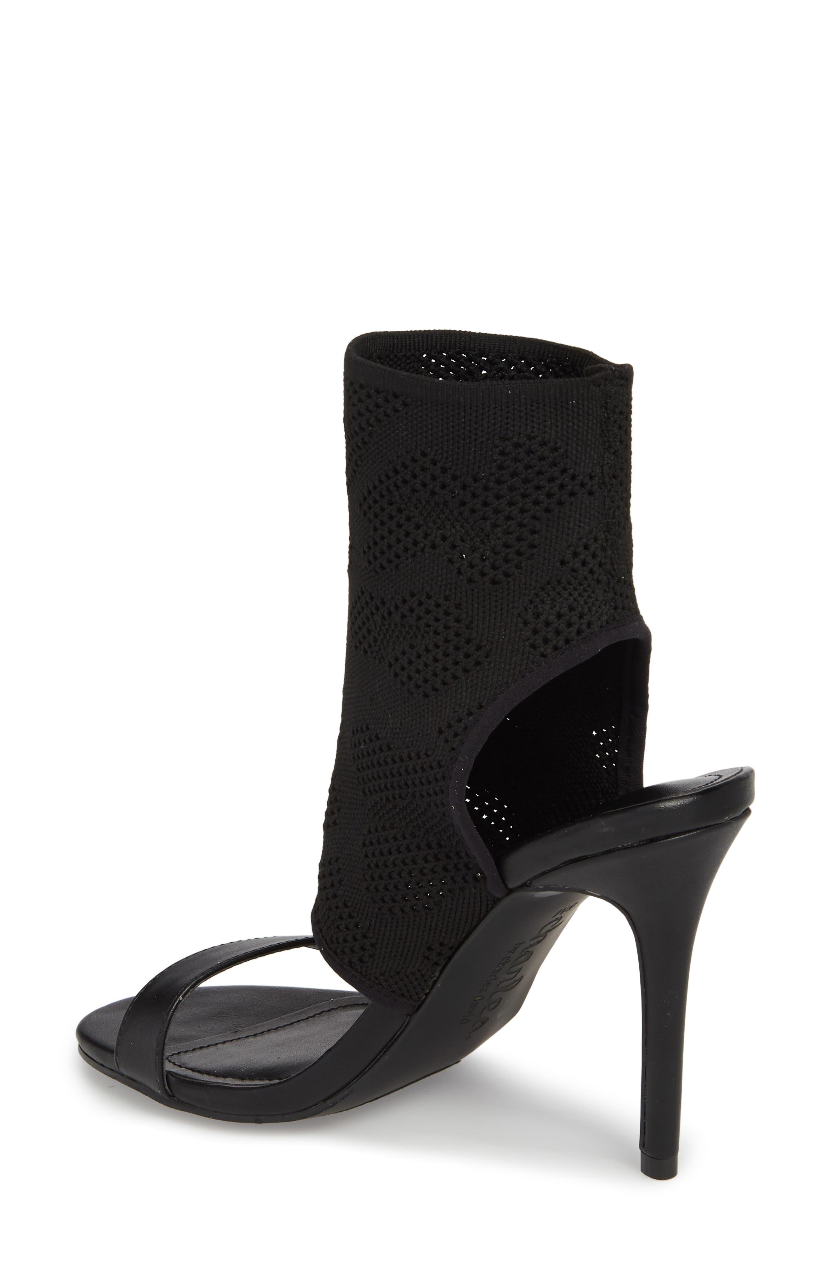 Remote Sock Cuff Sandal,                             Alternate thumbnail 2, color,                             BLACK FABRIC