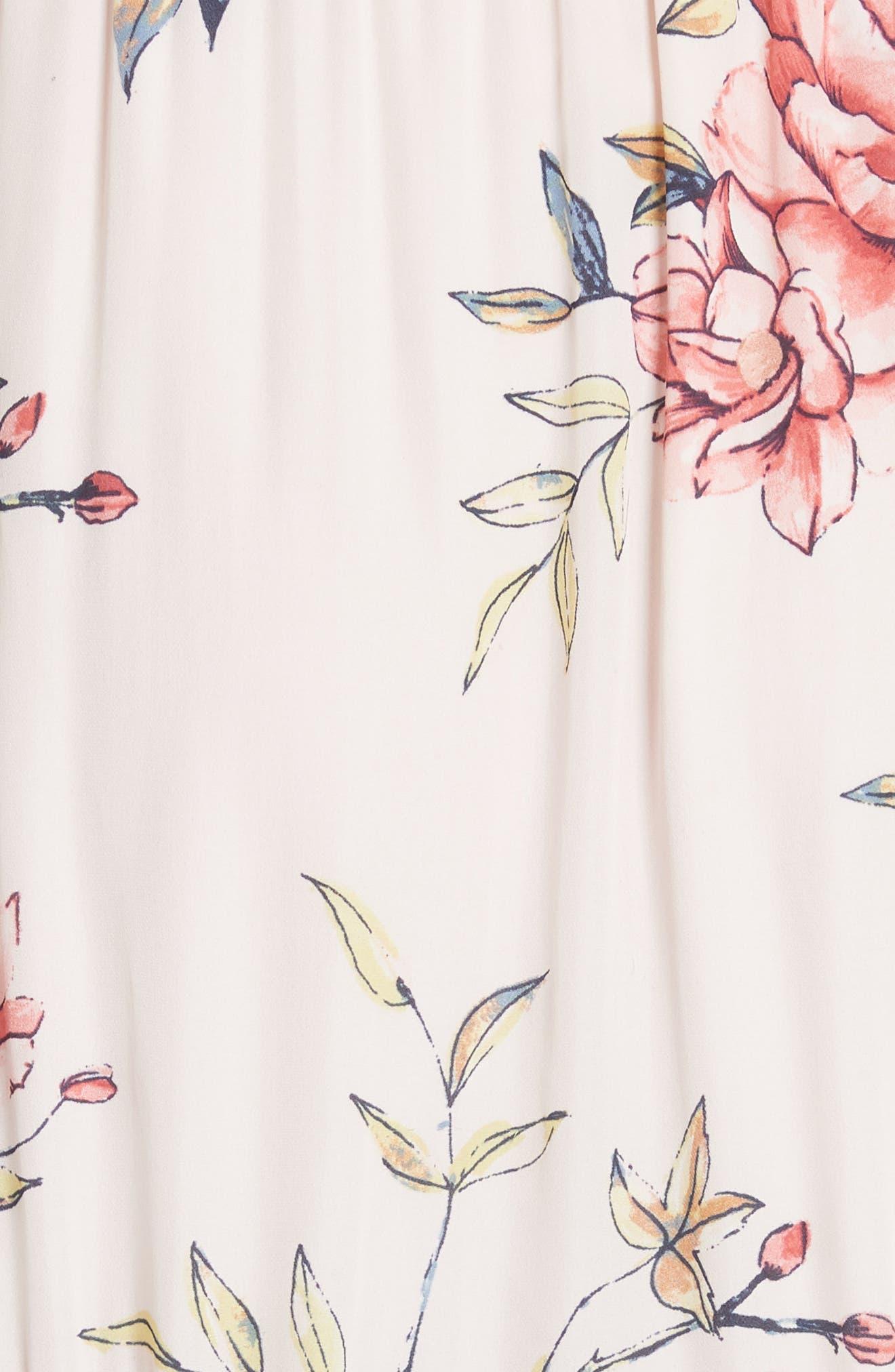 Cristeta Floral Silk Maxi Dress,                             Alternate thumbnail 6, color,                             680