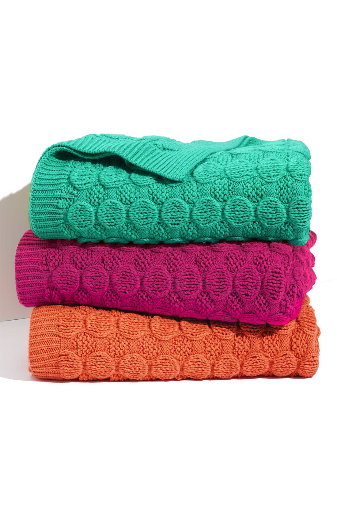 'Bubble Wrap' Knit Throw, Main, color, 401