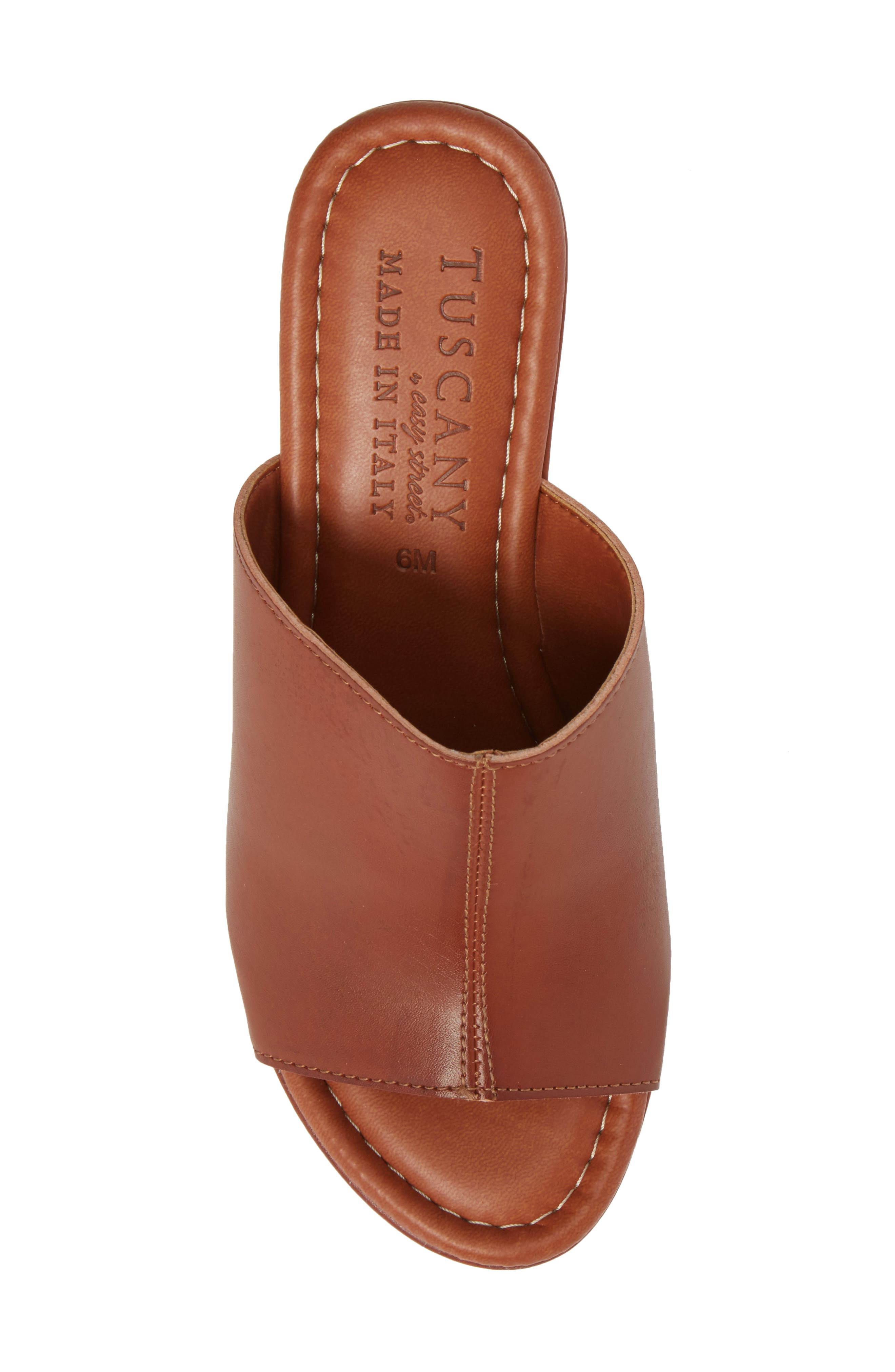 by Easy Street<sup>®</sup> Octavia Espadrille Wedge,                             Alternate thumbnail 5, color,                             COGNAC FAUX LEATHER