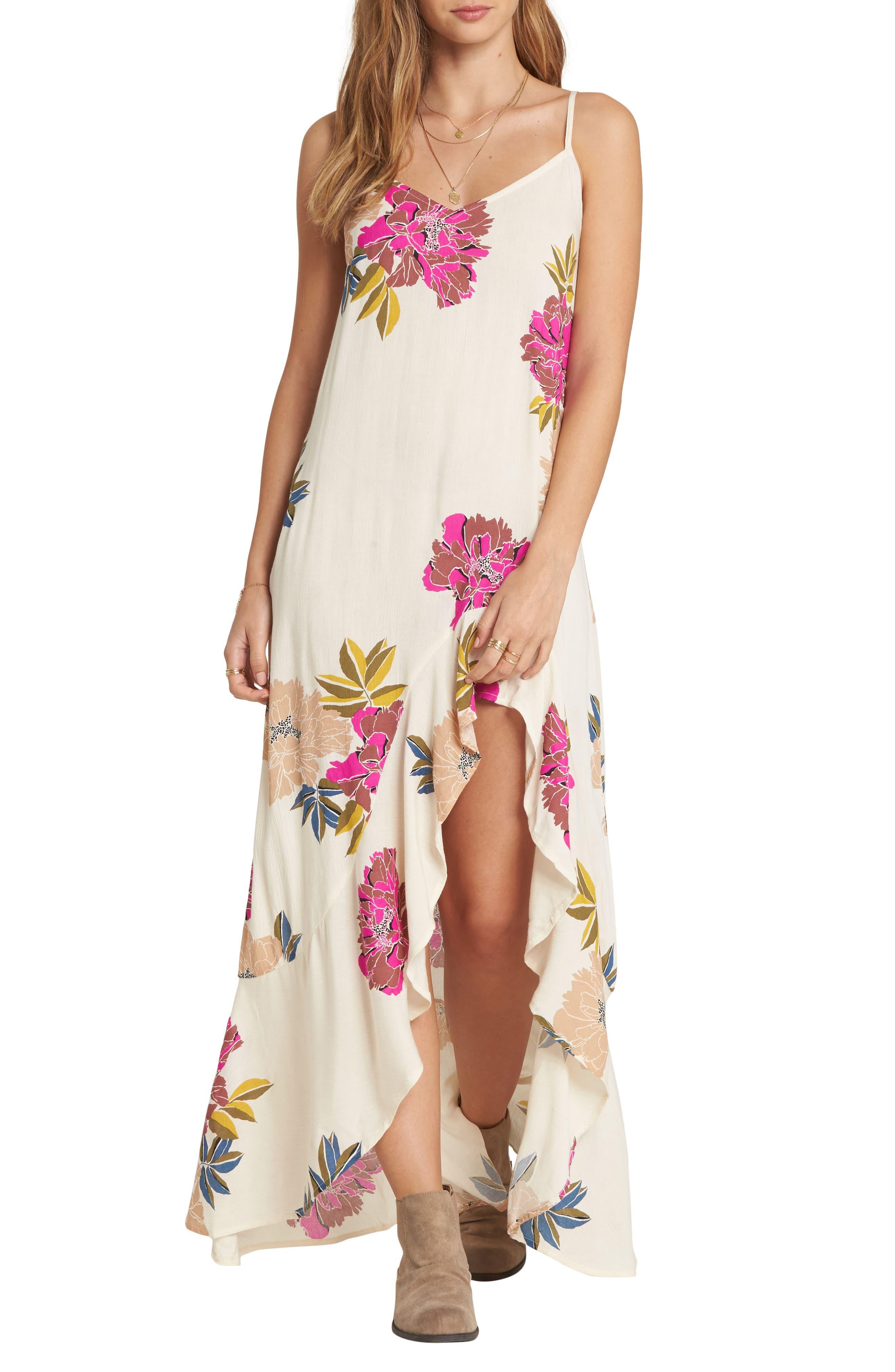 Billabong Kick It Up Maxi Dress, Ivory