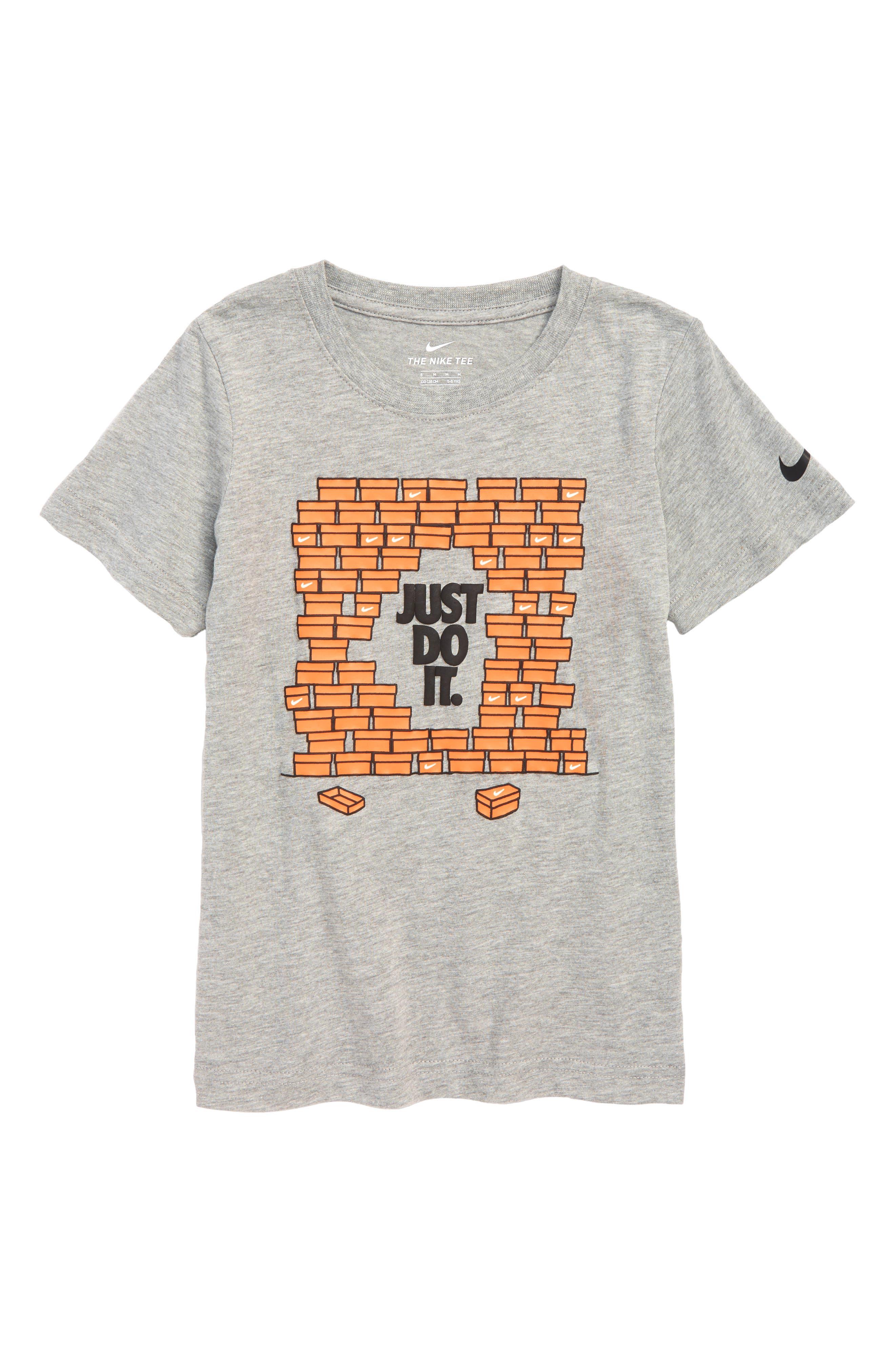 Shoebox Just Do It T-Shirt,                         Main,                         color, DARK GREY HEATHER