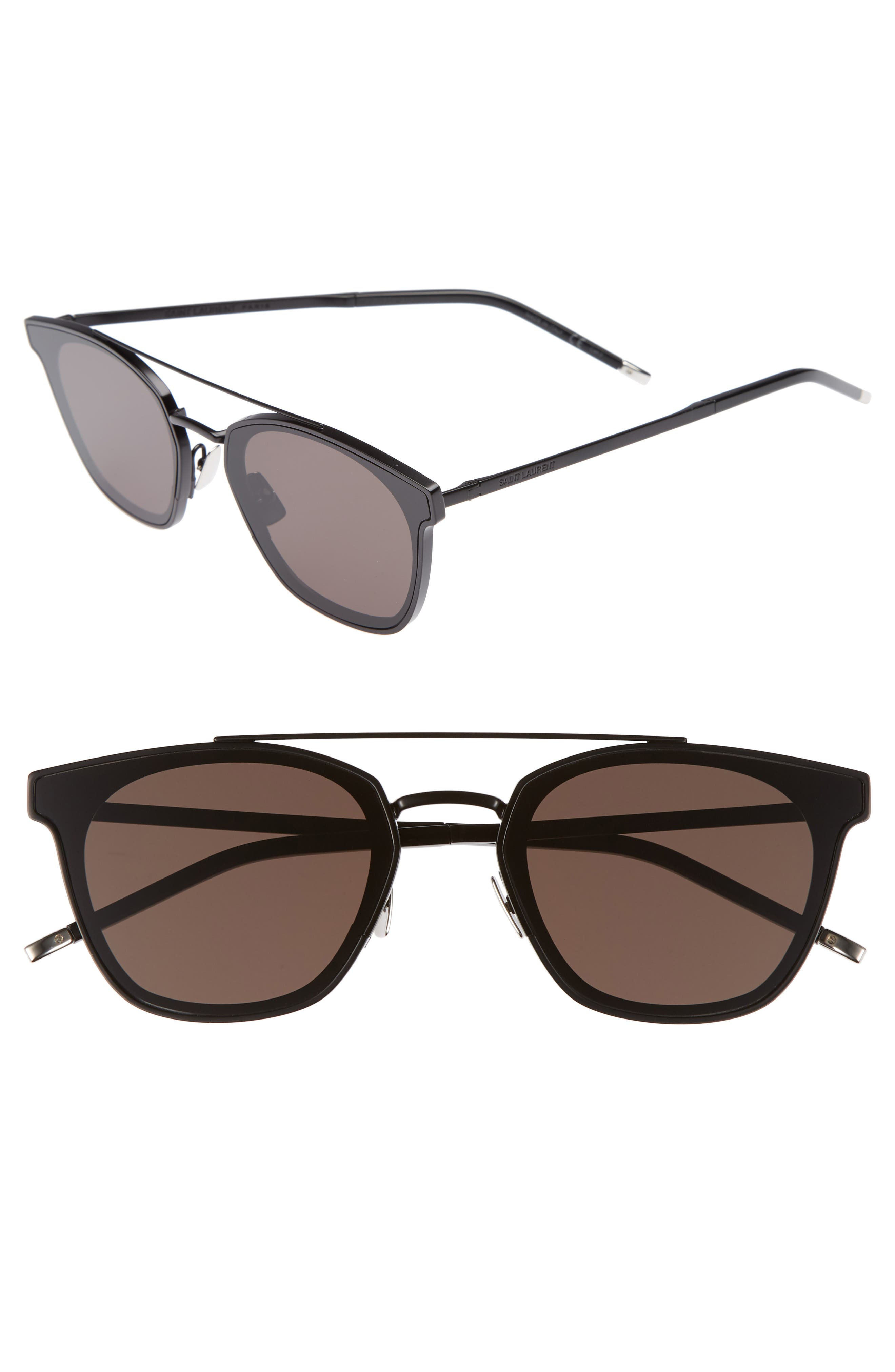 SL 28 61mm Polarized Sunglasses,                         Main,                         color, BLACK
