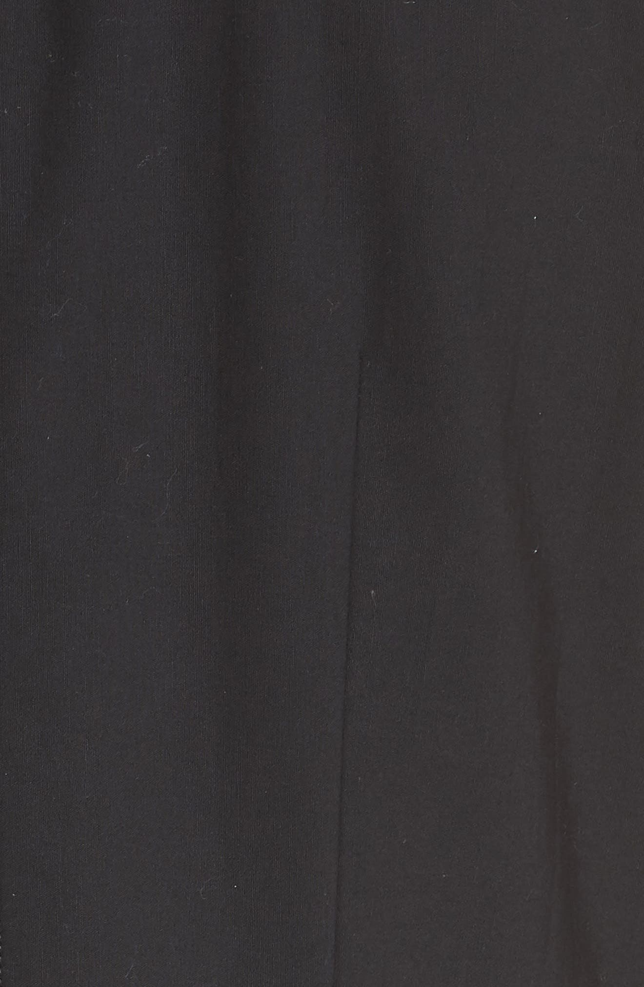 Embroidered Tulip Hem Dress,                             Alternate thumbnail 5, color,                             001