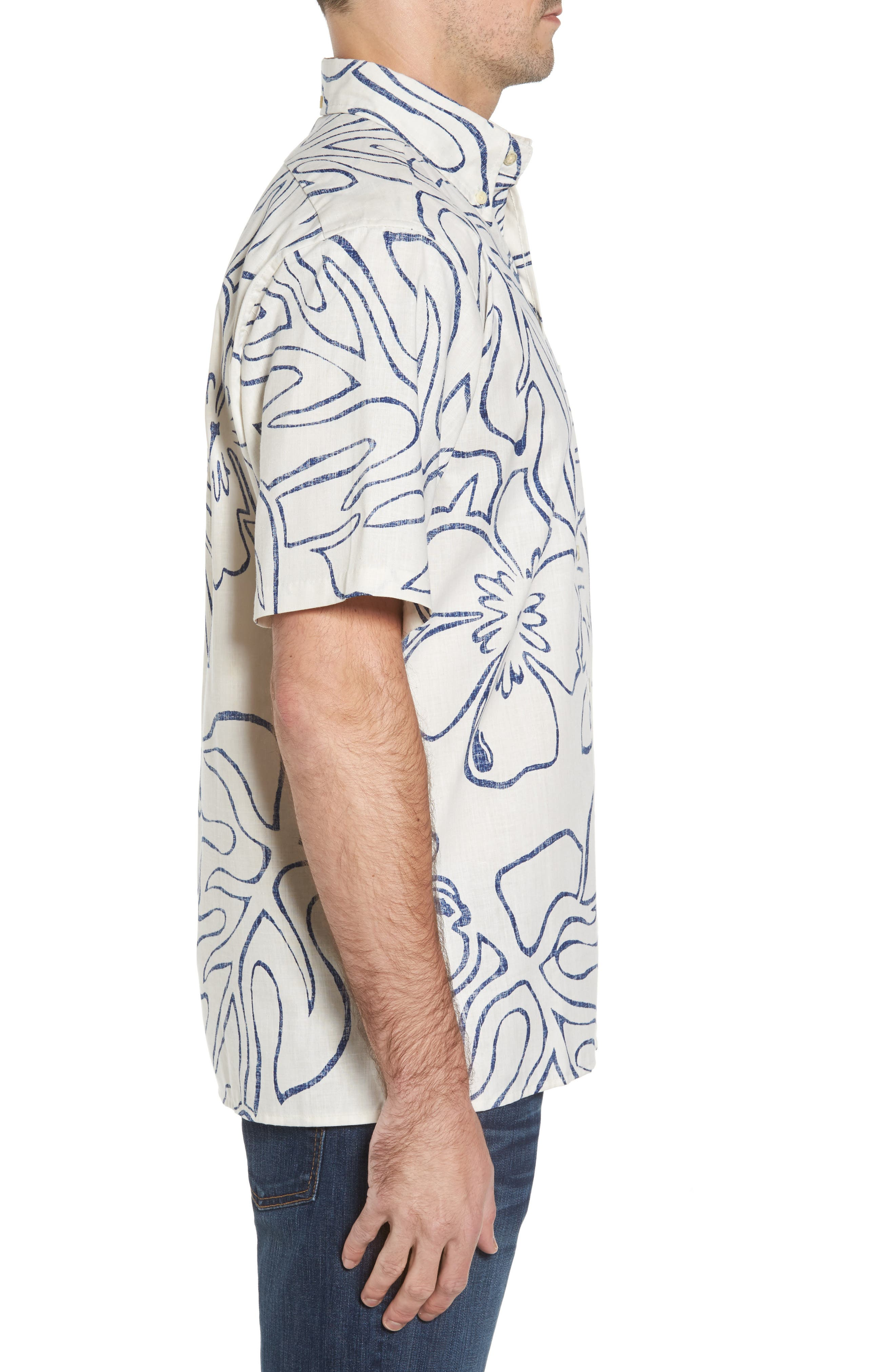 Monstera Ink Classic Fit Sport Shirt,                             Alternate thumbnail 3, color,                             104