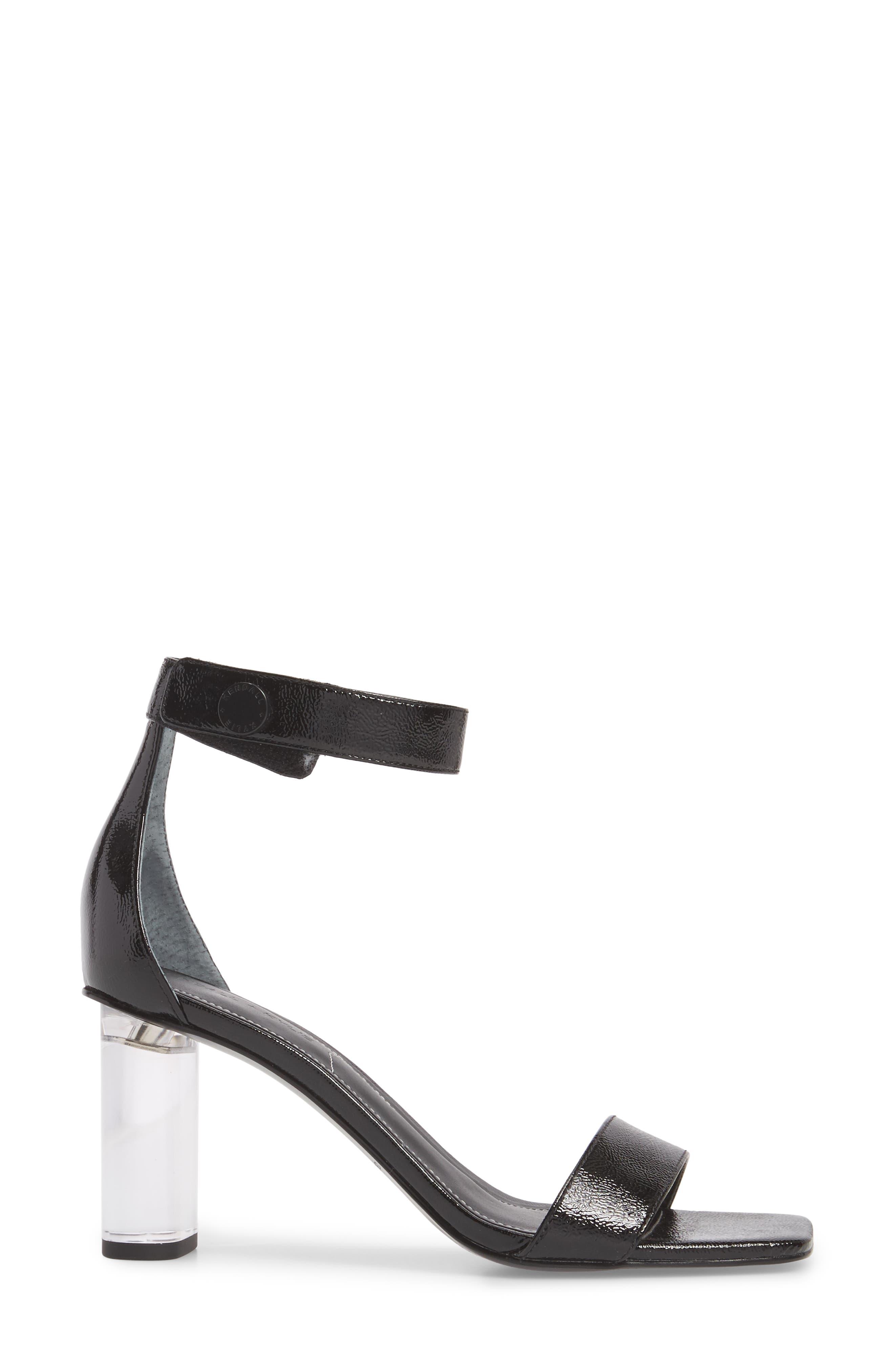 Lexx Ankle Strap Sandal,                             Alternate thumbnail 3, color,                             BLACK