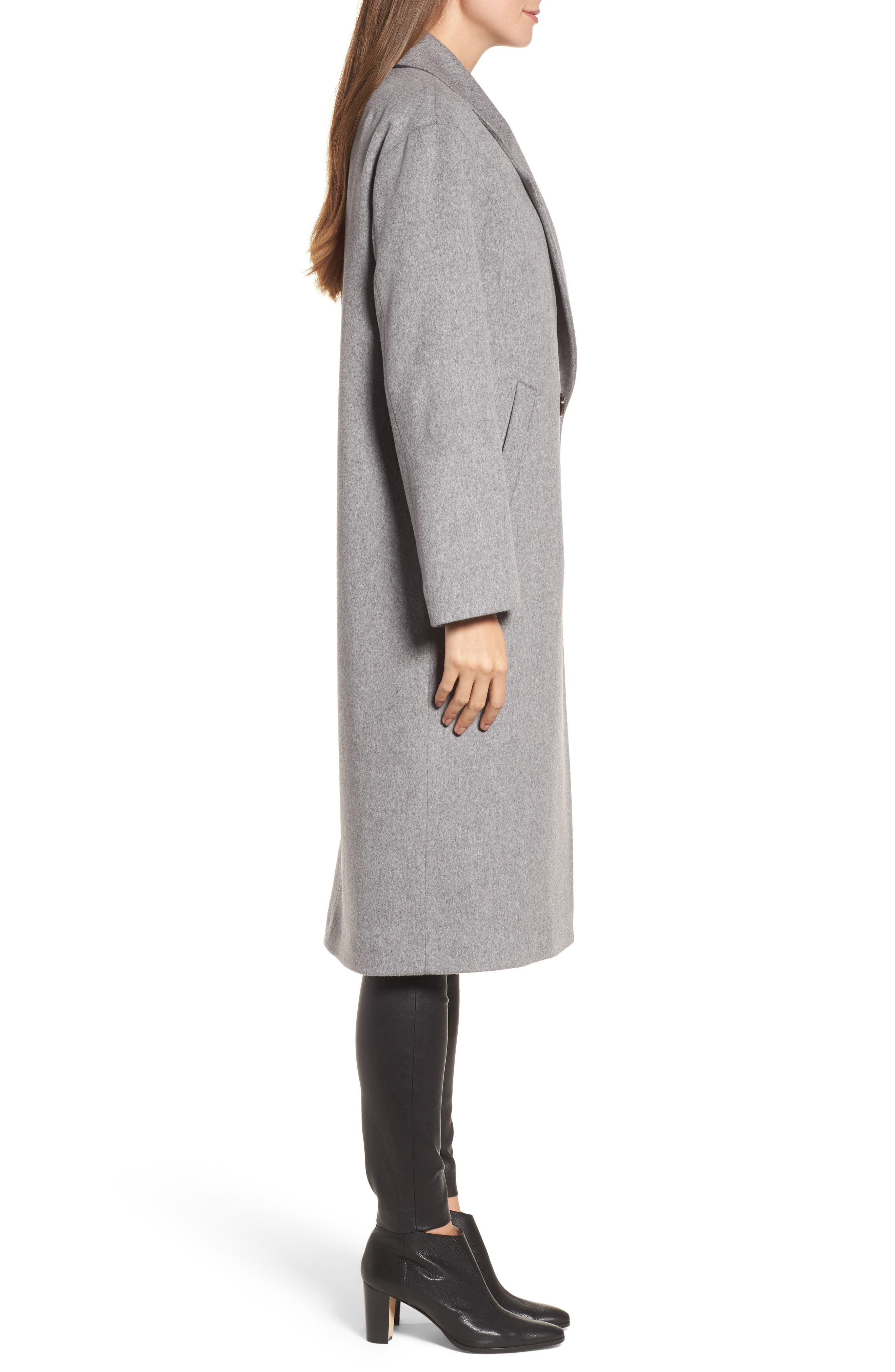 45 Loro Piana Wool Coat,                             Alternate thumbnail 3, color,                             080