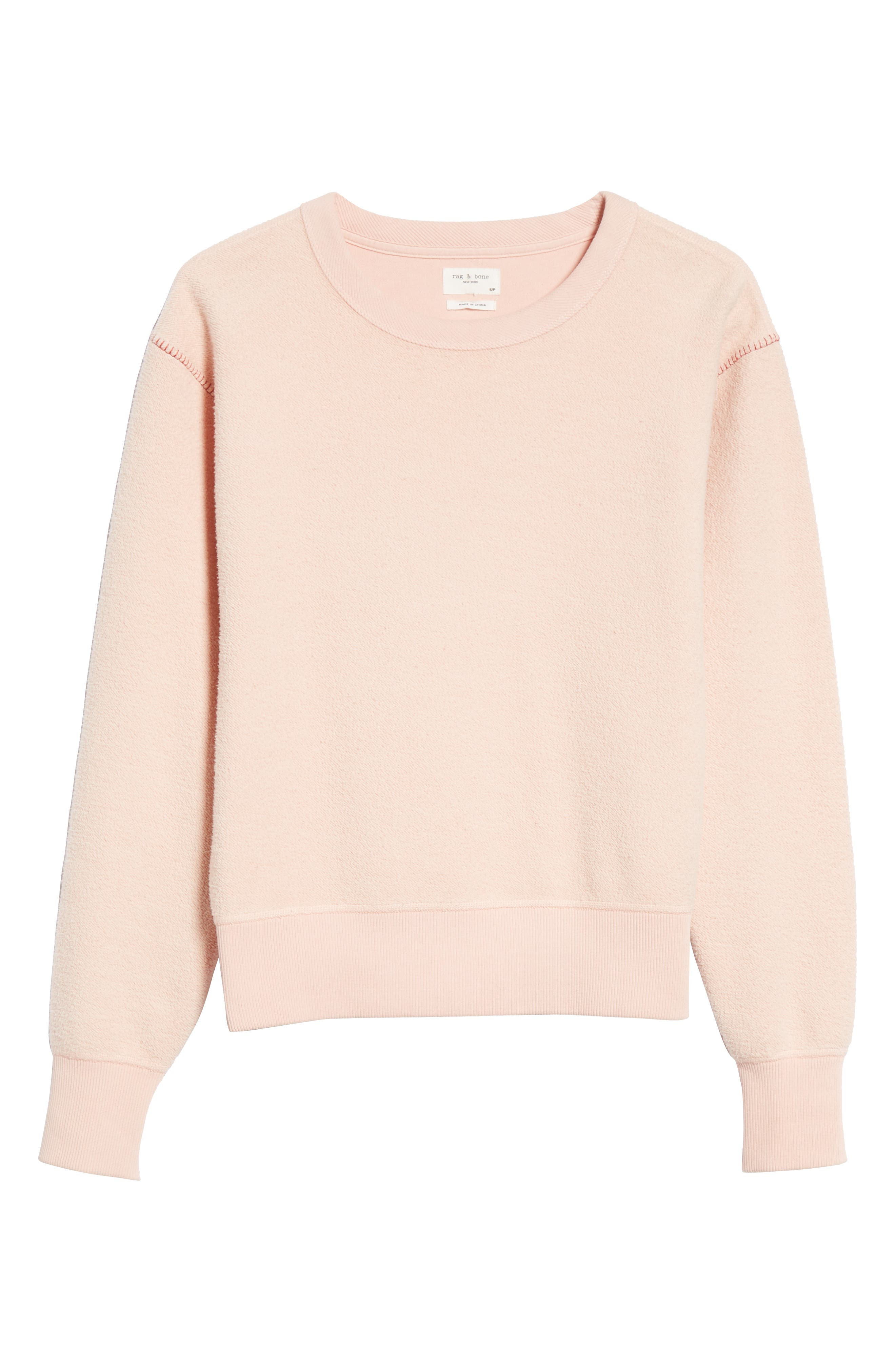rag & bone Brushed Inside Out Terry Sweatshirt,                             Alternate thumbnail 6, color,                             666