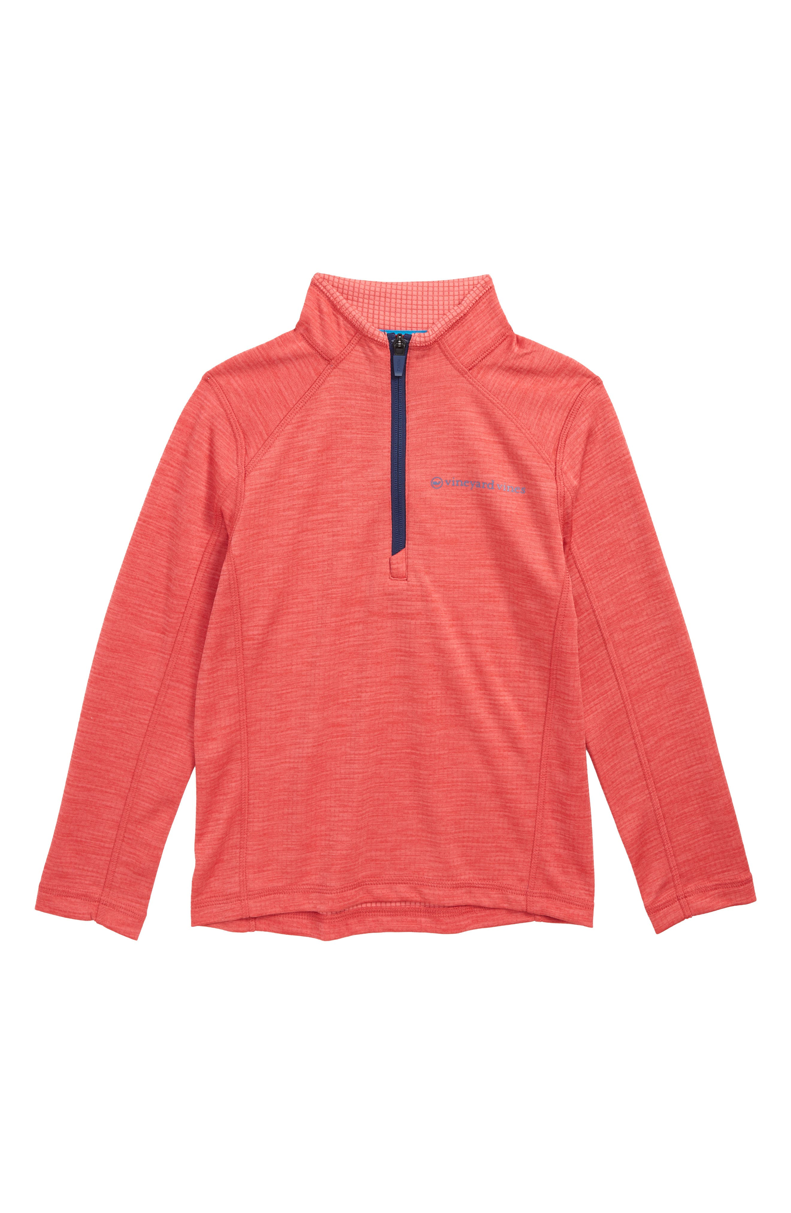 The New Nine Mile Half Zip Pullover,                             Main thumbnail 1, color,                             SAILORS RED