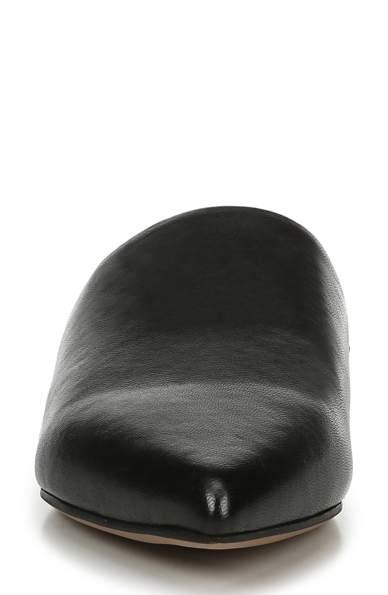 SARTO BY FRANCO SARTO,                             Irma Pointy Toe Mule,                             Alternate thumbnail 4, color,                             BLACK LEATHER