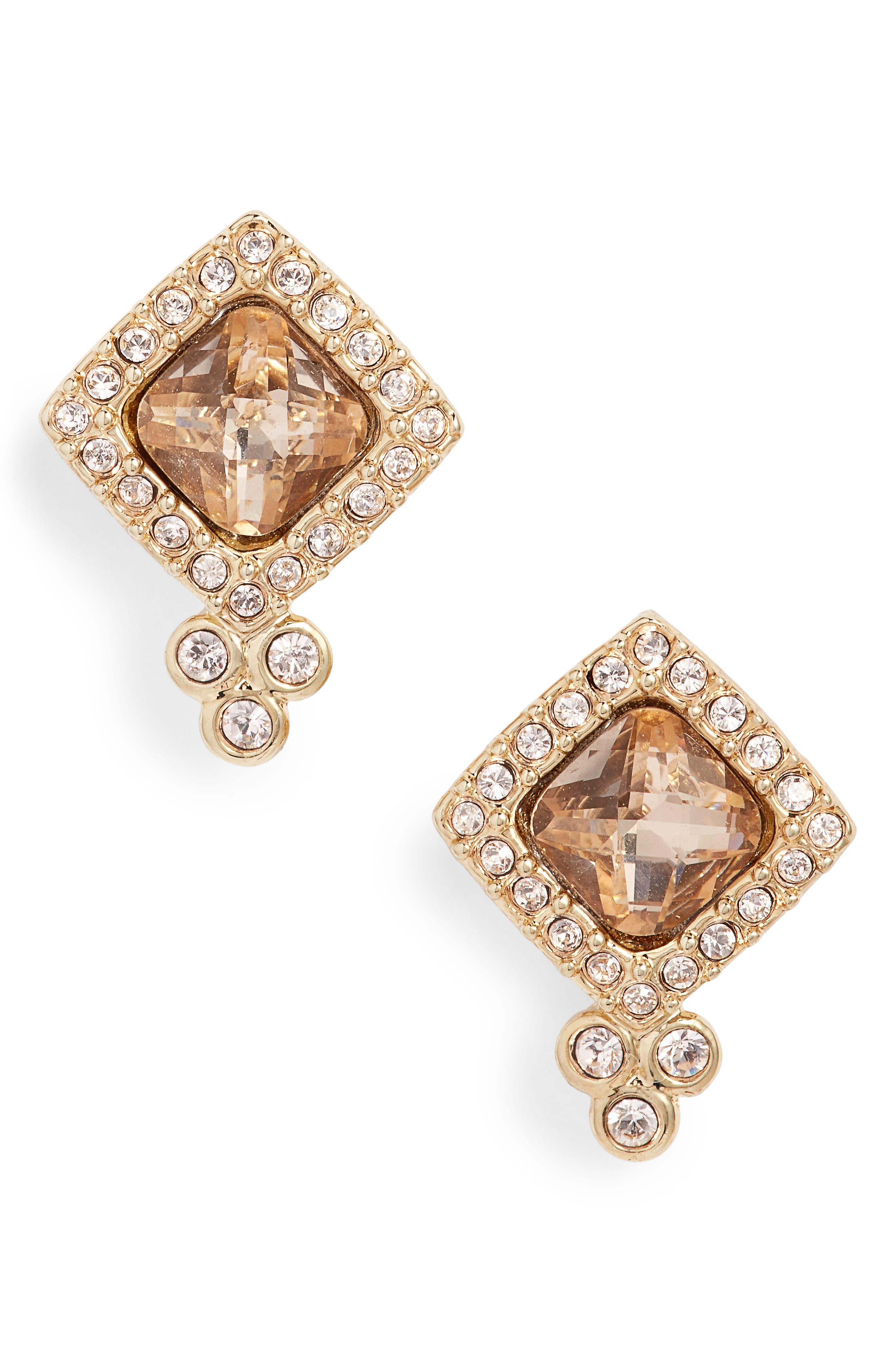 Crystal Stud Earrings,                             Main thumbnail 2, color,