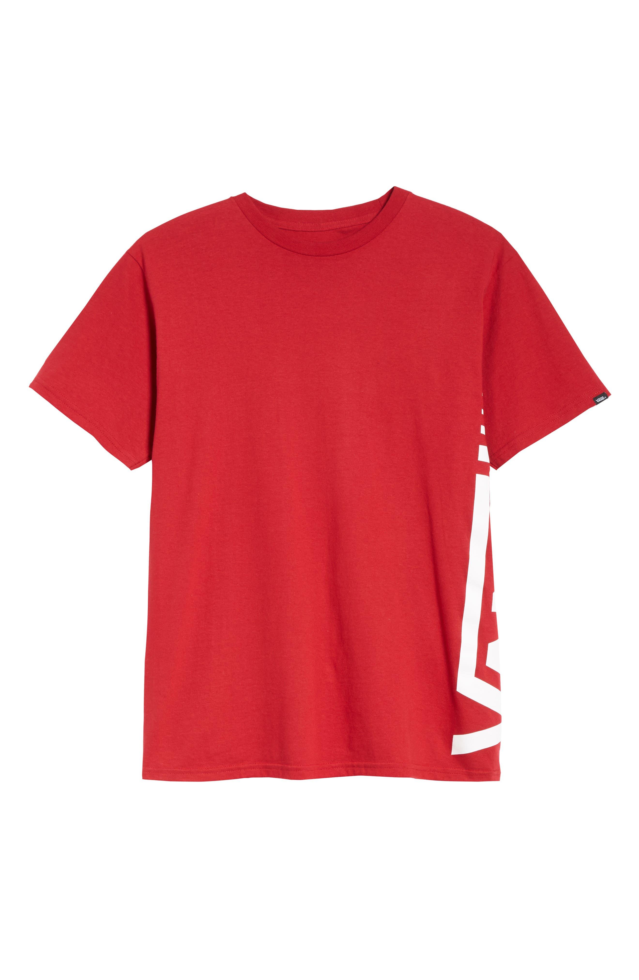 Distorted Short Sleeve T-Shirt,                             Alternate thumbnail 6, color,                             CARDINAL