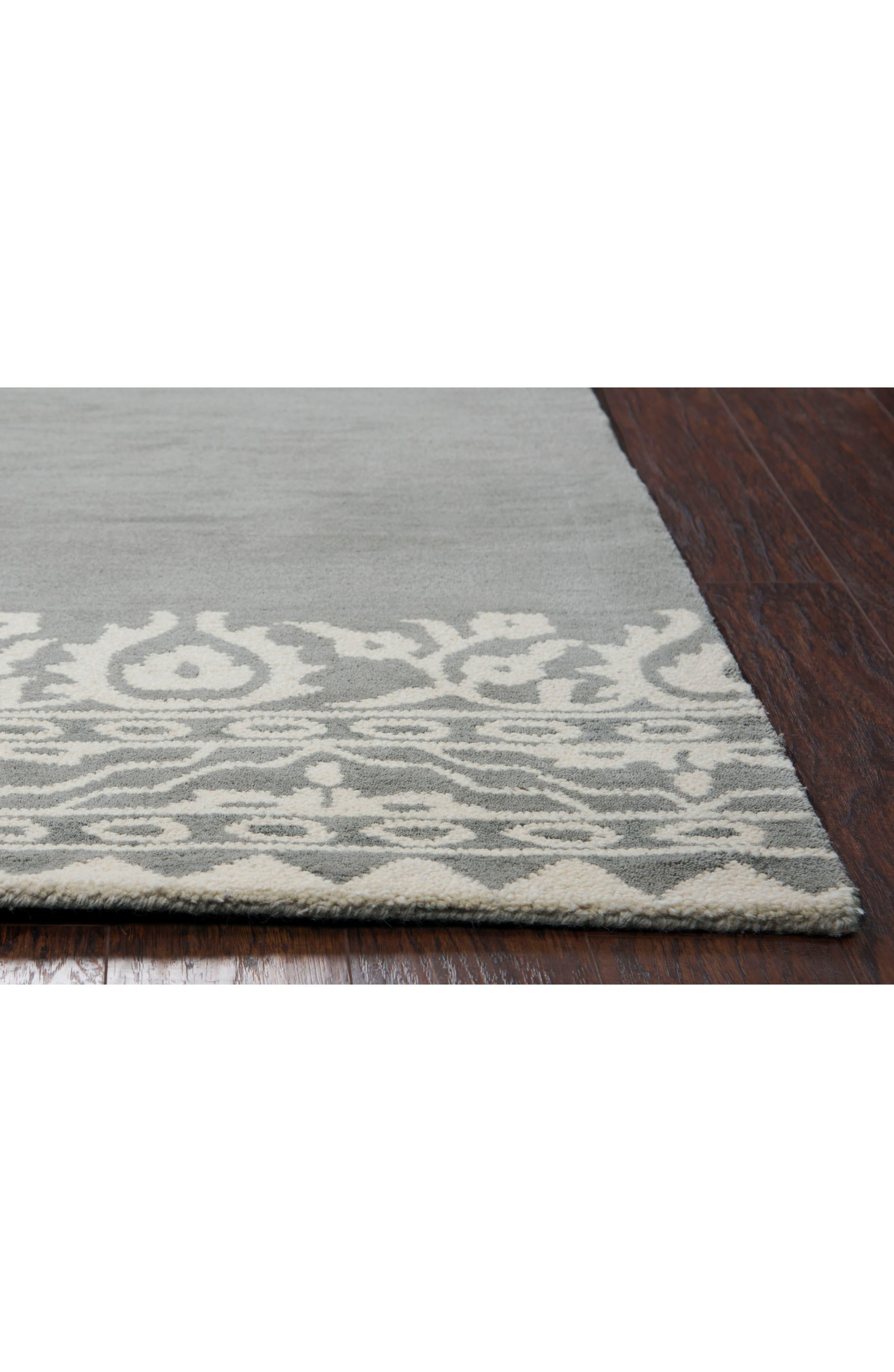 Framed Medallion Hand Tufted Wool Area Rug,                             Alternate thumbnail 5, color,