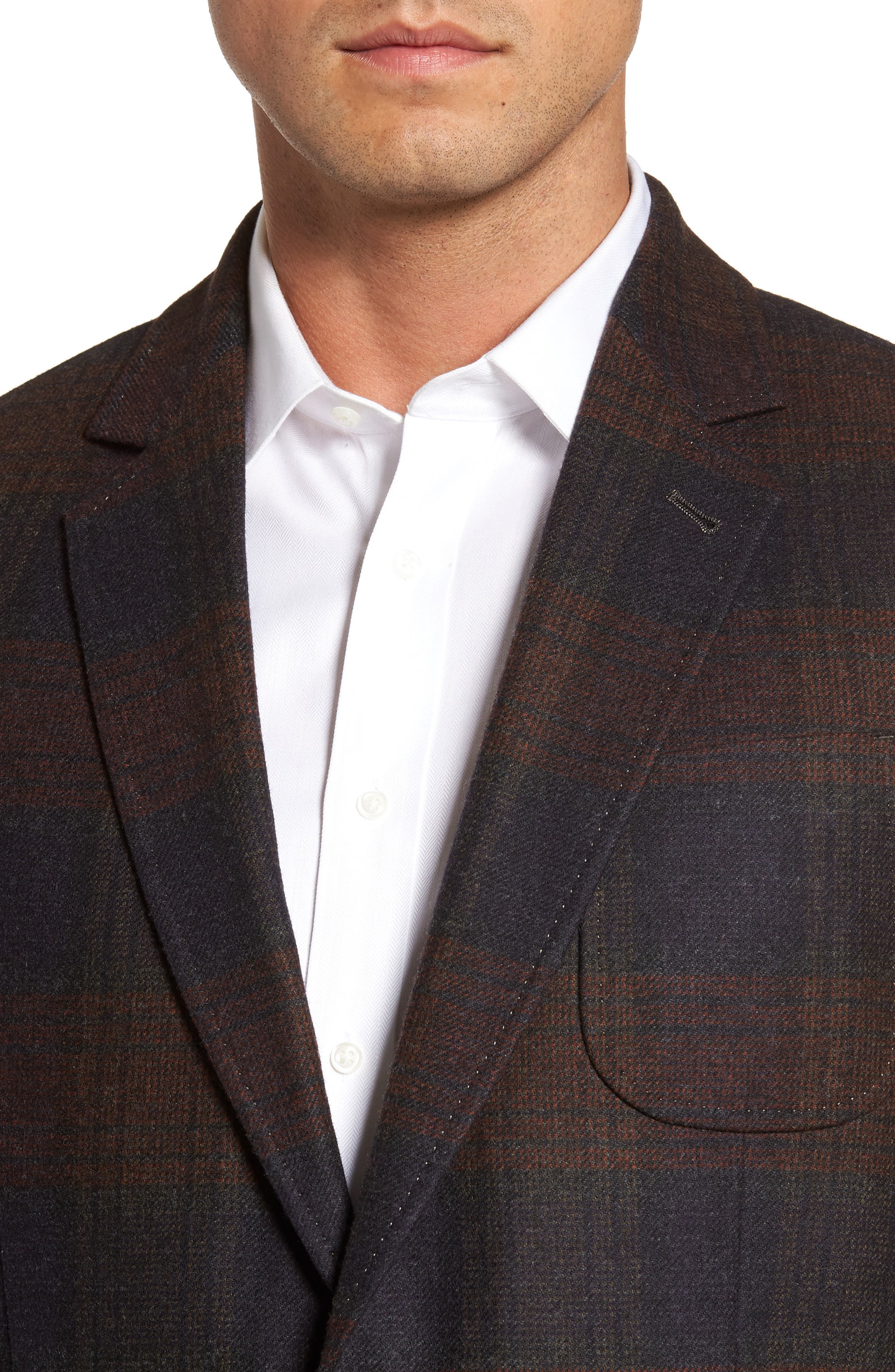 Plaid Wool Sport Coat,                             Alternate thumbnail 4, color,                             021