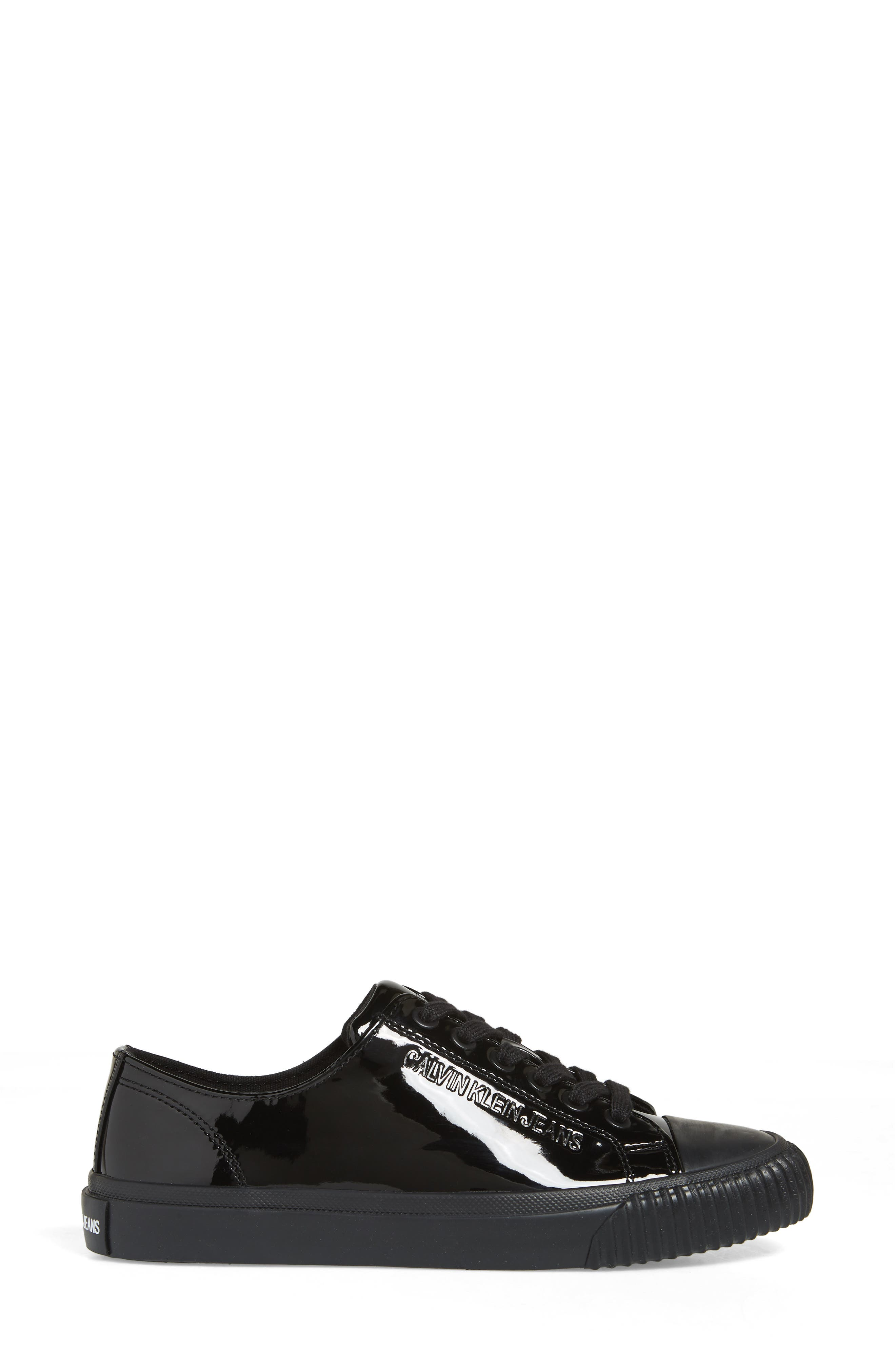Ireland Lace-Up Sneaker,                             Alternate thumbnail 3, color,                             BLACK