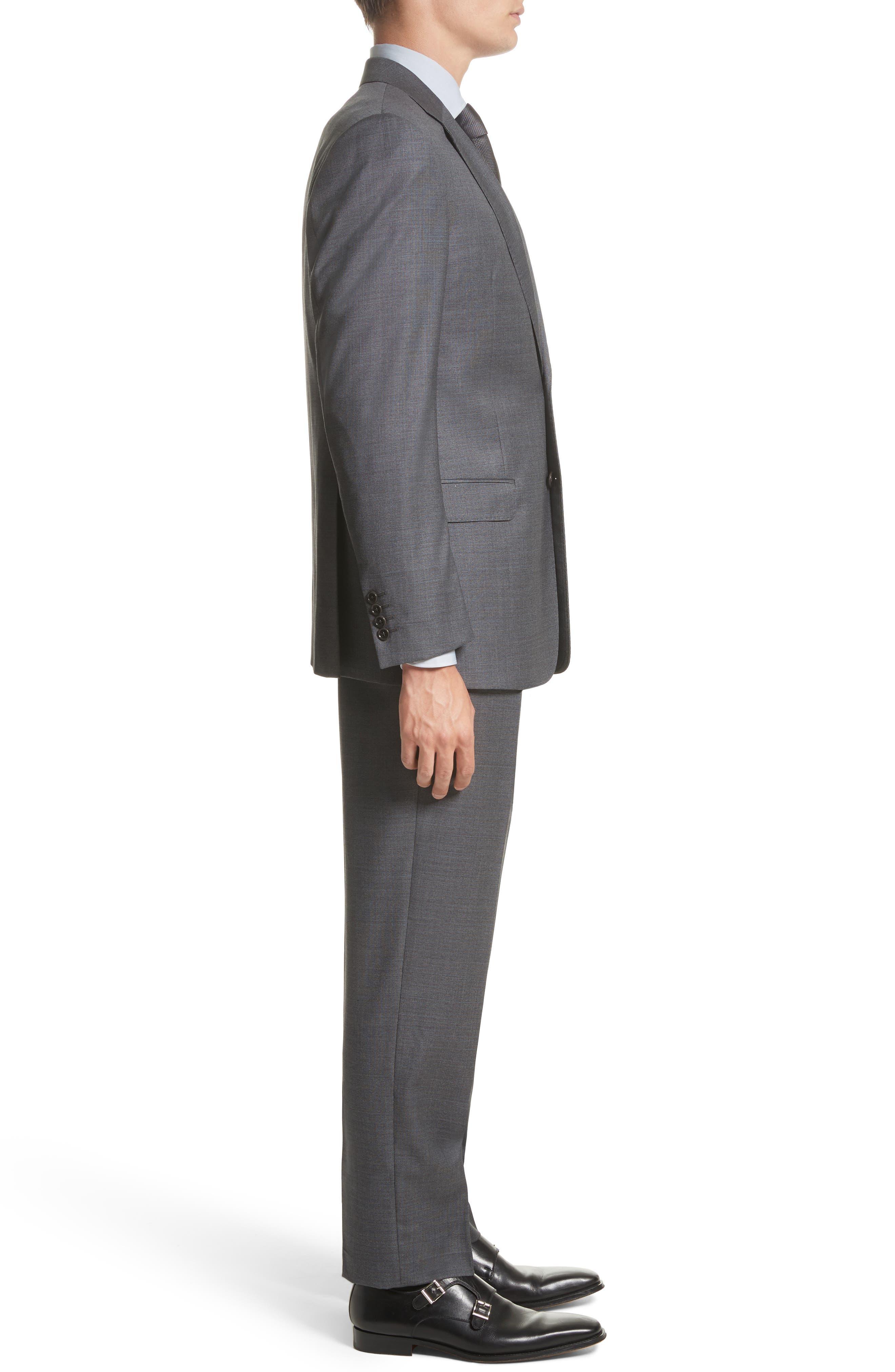 G-Line Trim Fit Solid Wool Suit,                             Alternate thumbnail 3, color,                             032