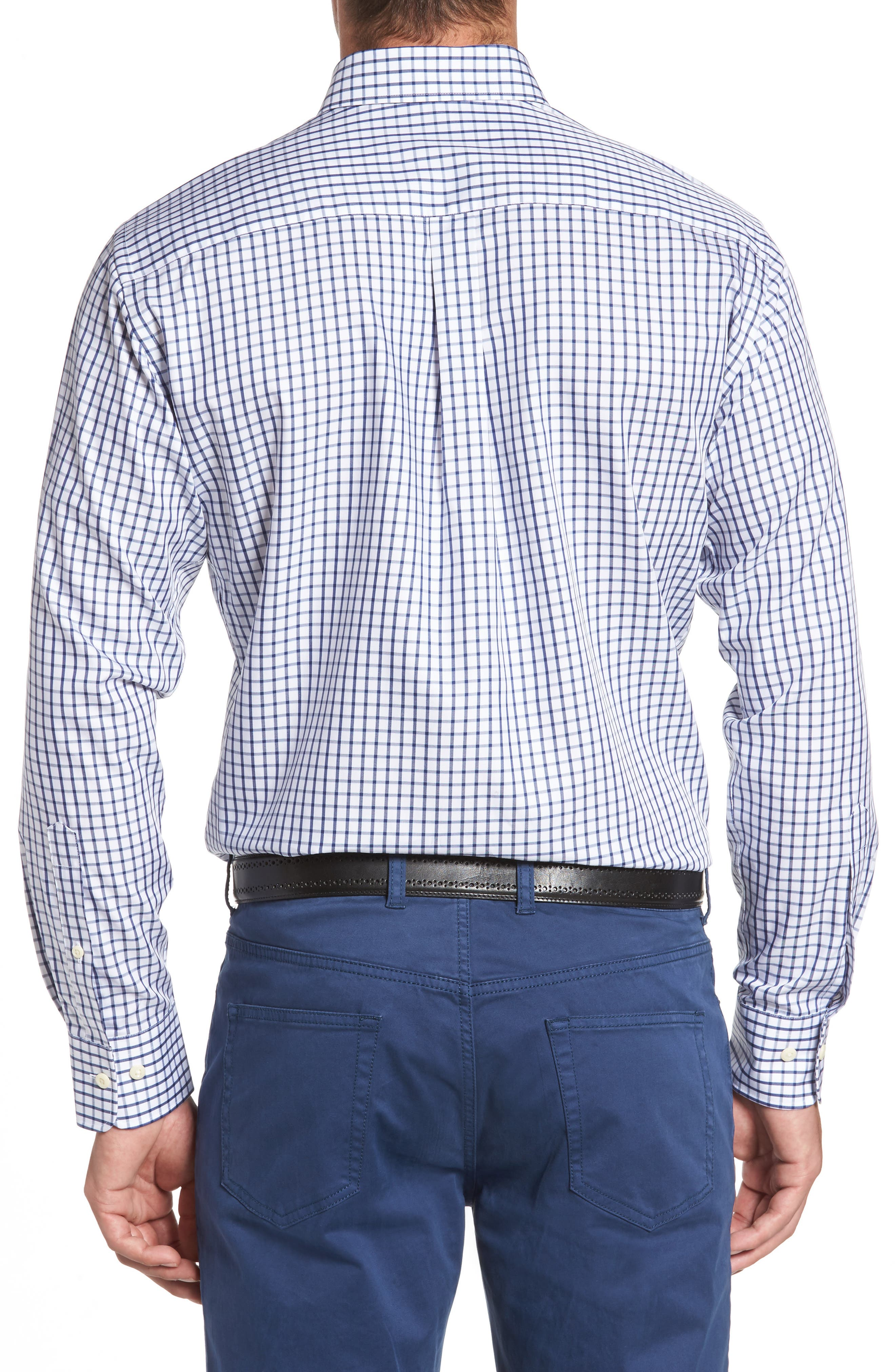 Crown Soft Nevada Tattersall Sport Shirt,                             Alternate thumbnail 2, color,                             400