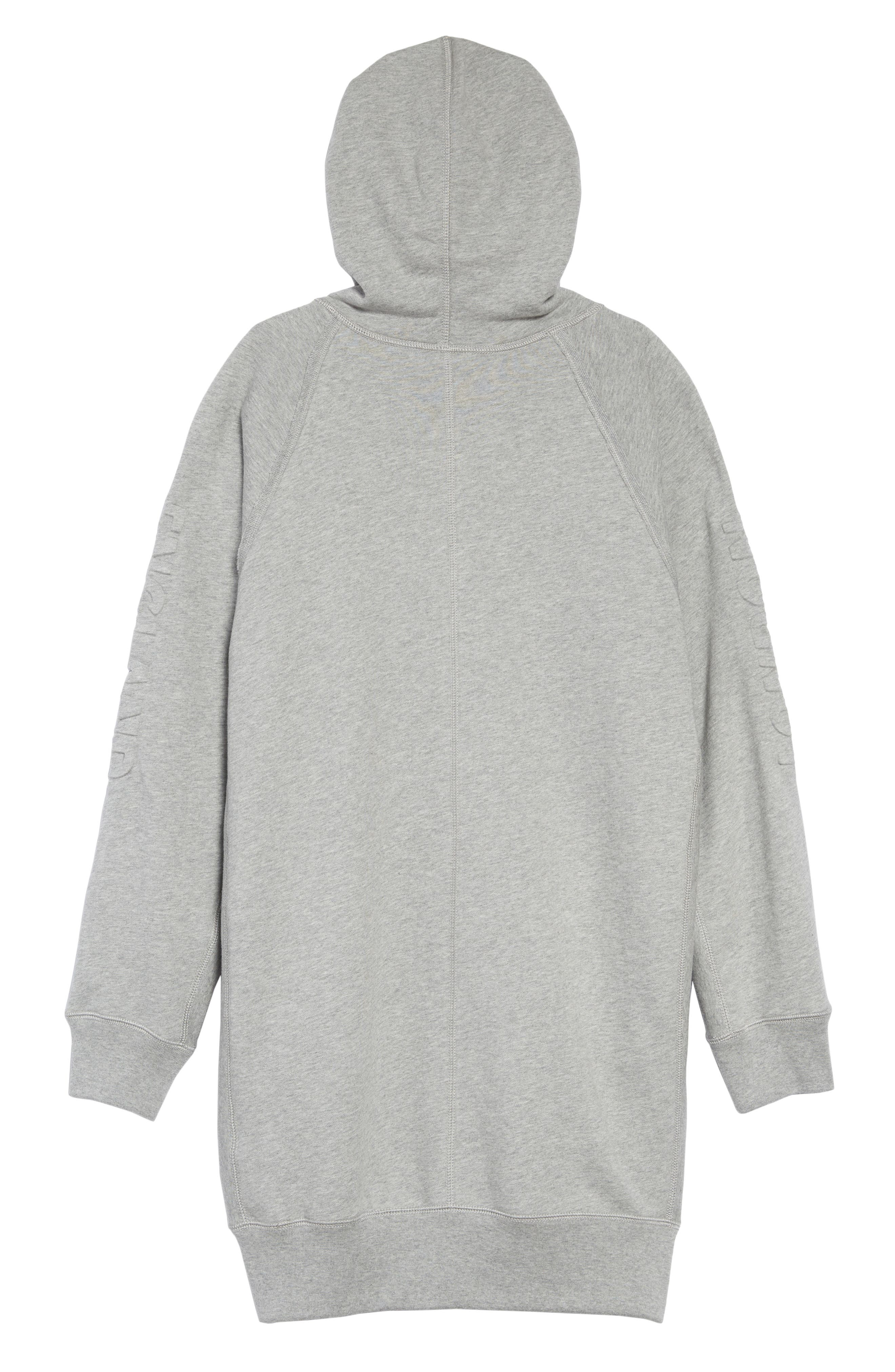 Aurora Logo Sweatshirt Dress,                             Alternate thumbnail 2, color,                             GREY MELANGE