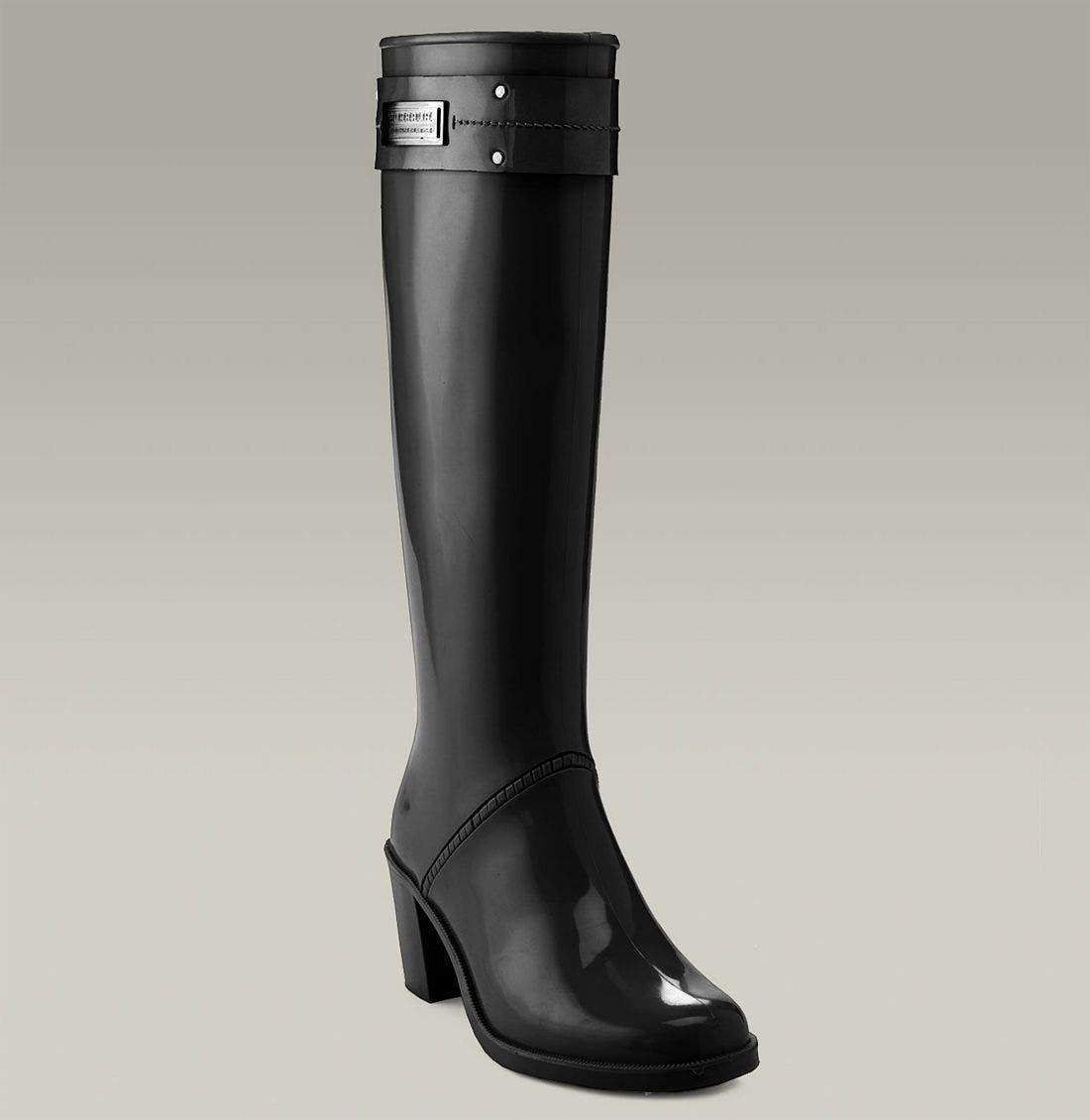 Heeled Rain Boot, Main, color, 001