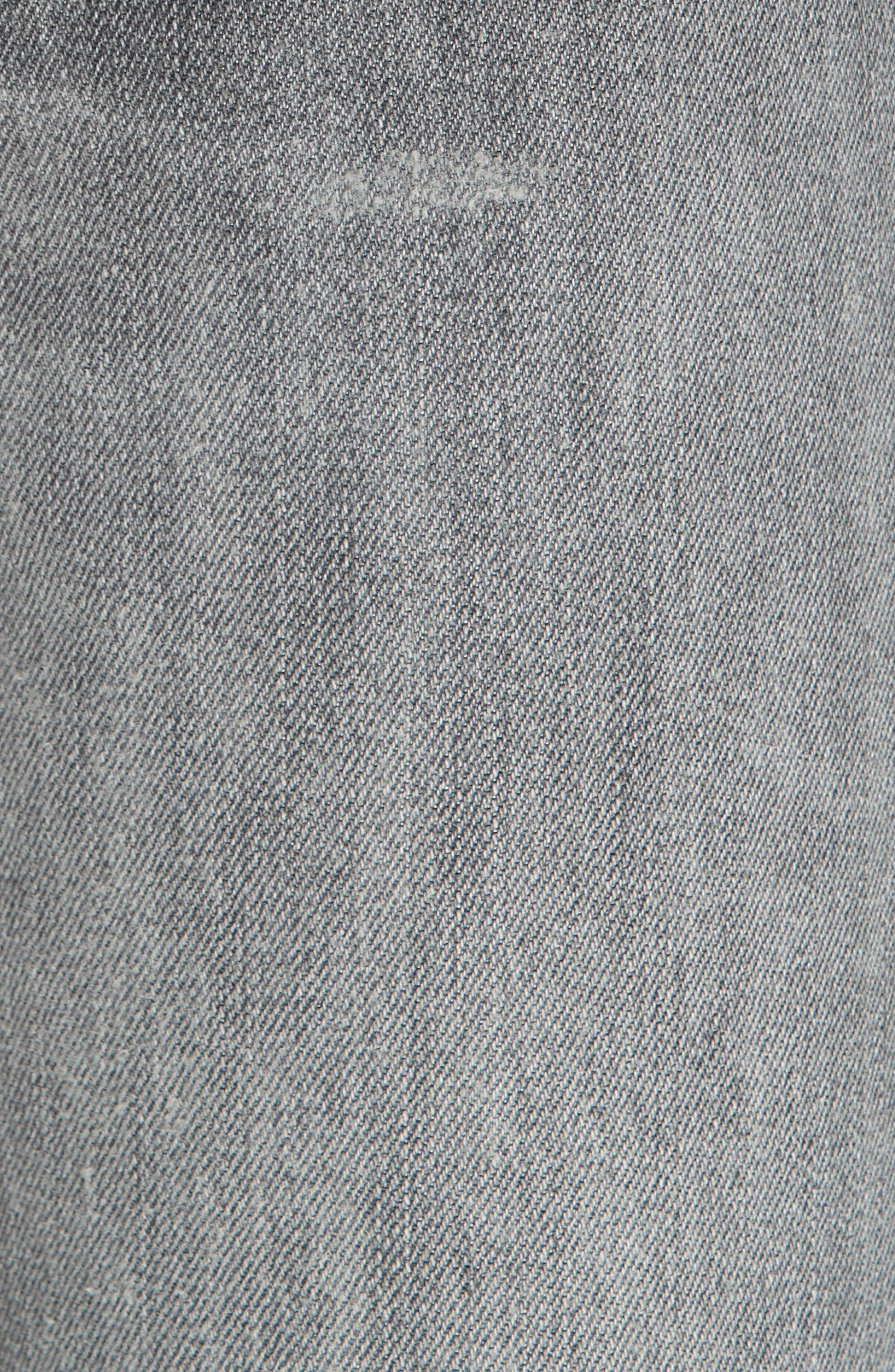 High Waist Slim Straight Crop Jeans,                             Alternate thumbnail 5, color,                             GREY
