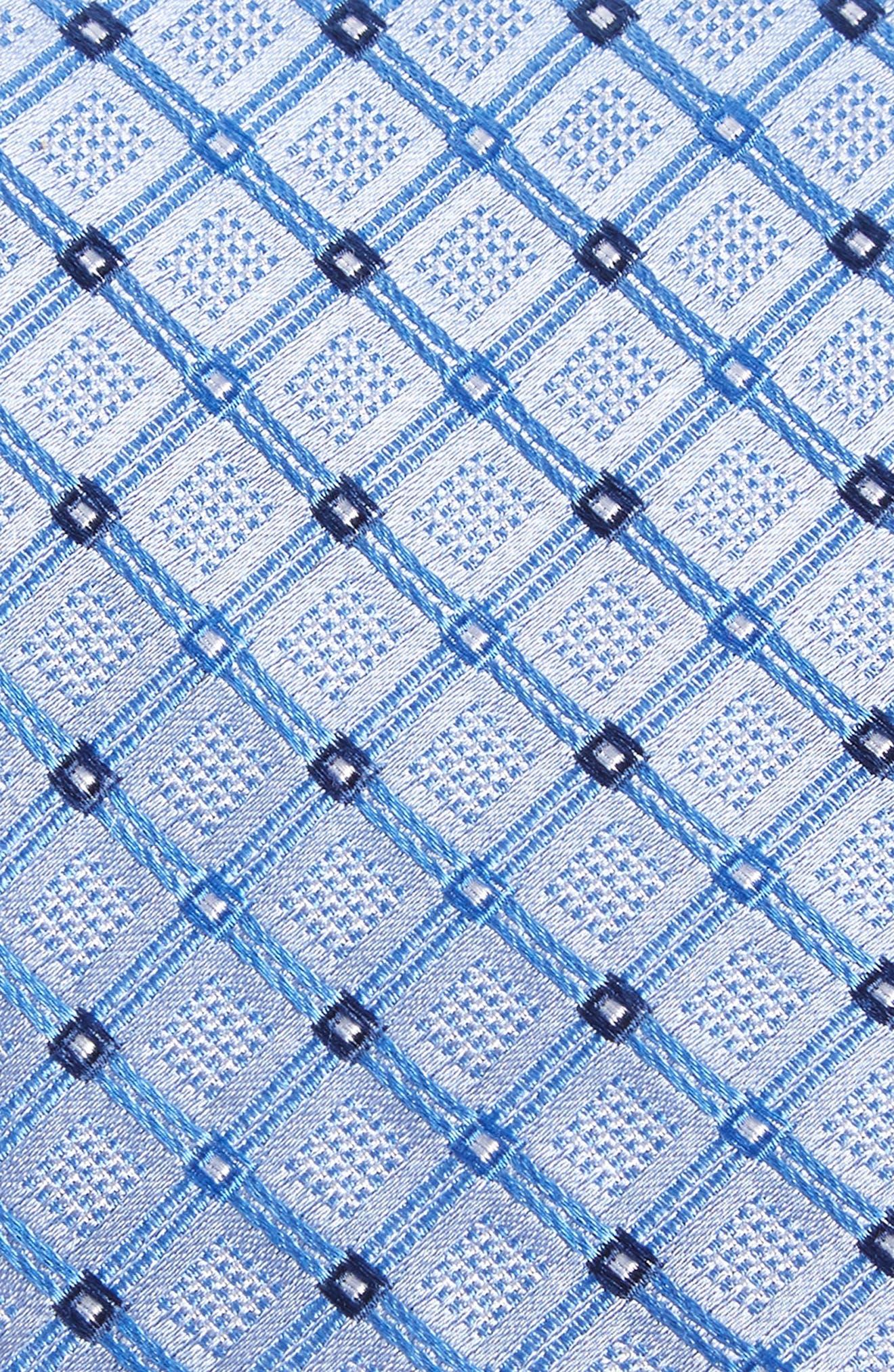 Coventry Check Silk Tie,                             Alternate thumbnail 2, color,                             SKY