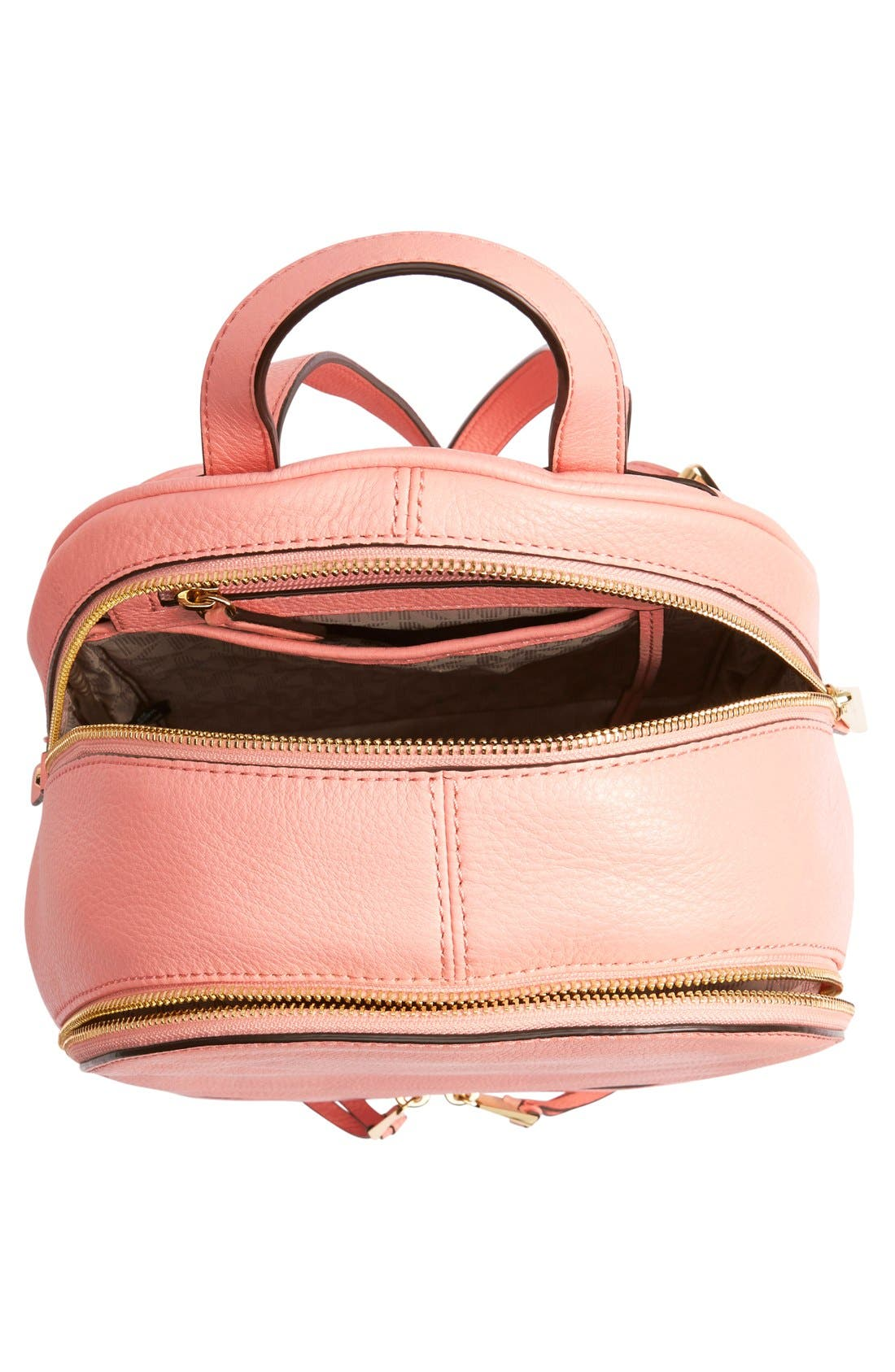 'Extra Small Rhea Zip' Leather Backpack,                             Alternate thumbnail 44, color,