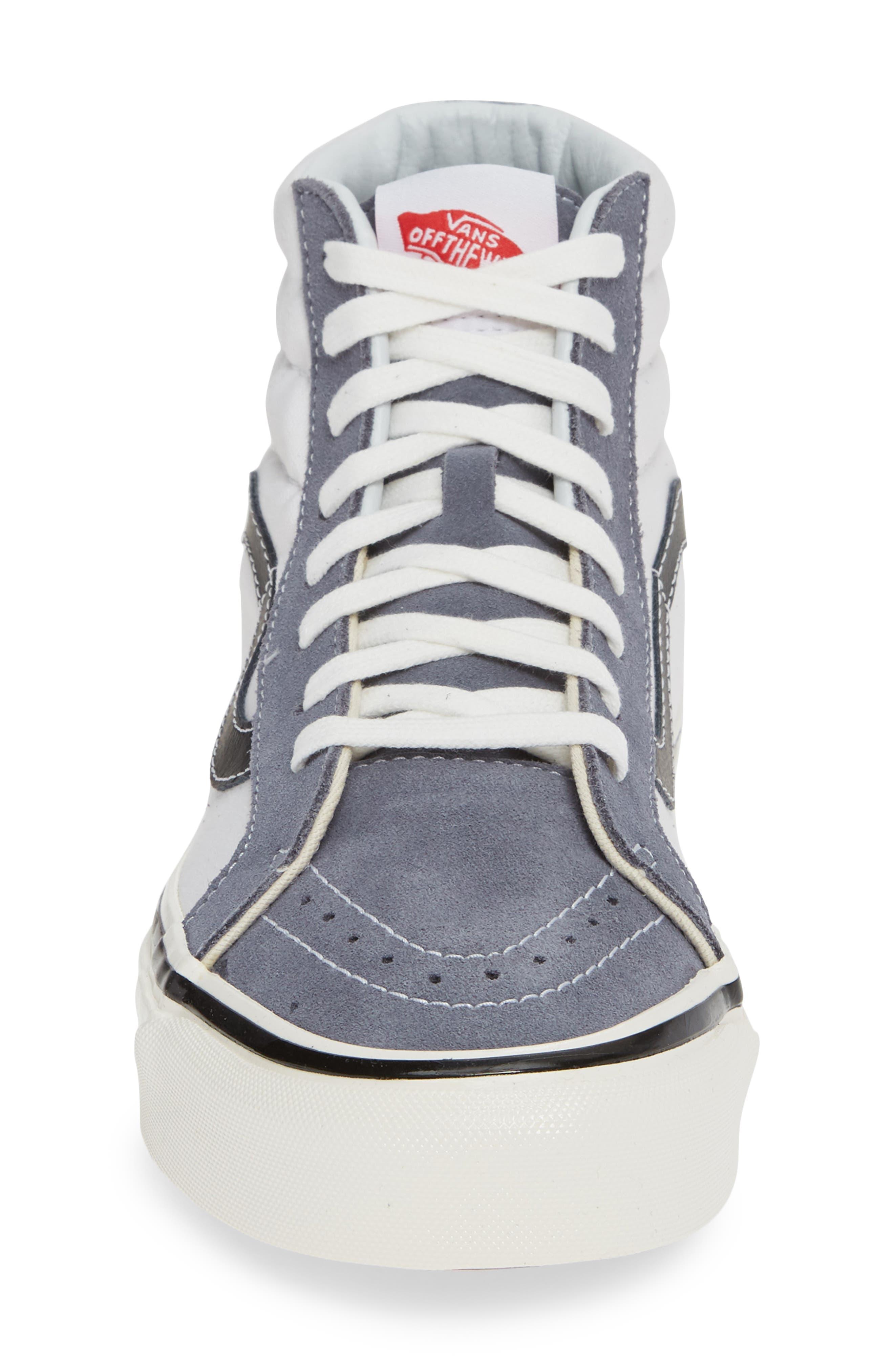 UA Sk8-Hi 38 DX Sneaker,                             Alternate thumbnail 4, color,                             DARK GREY/ WHITE