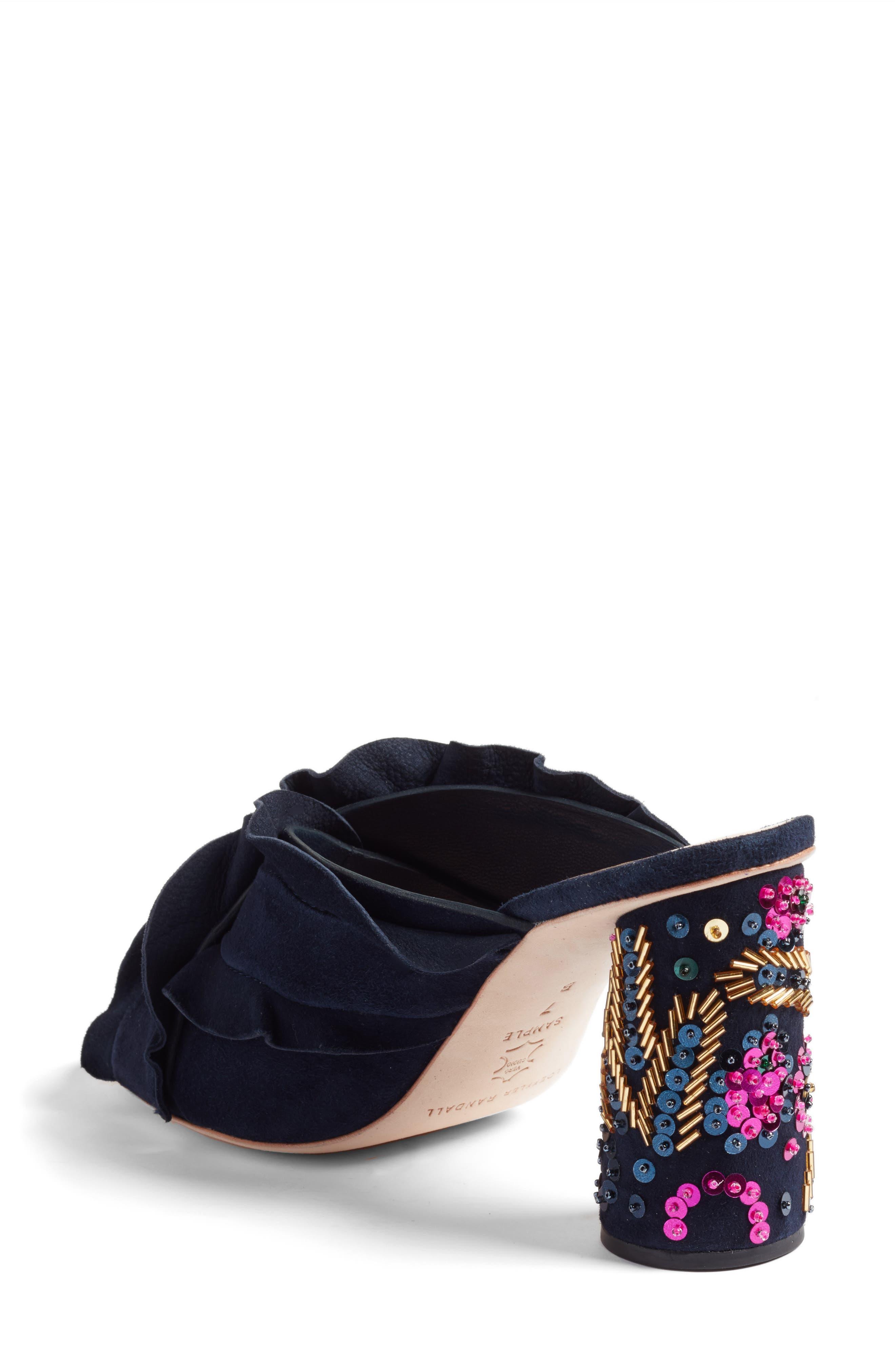 Kaya Embellished Ruffle Slide Sandal,                             Alternate thumbnail 2, color,                             499