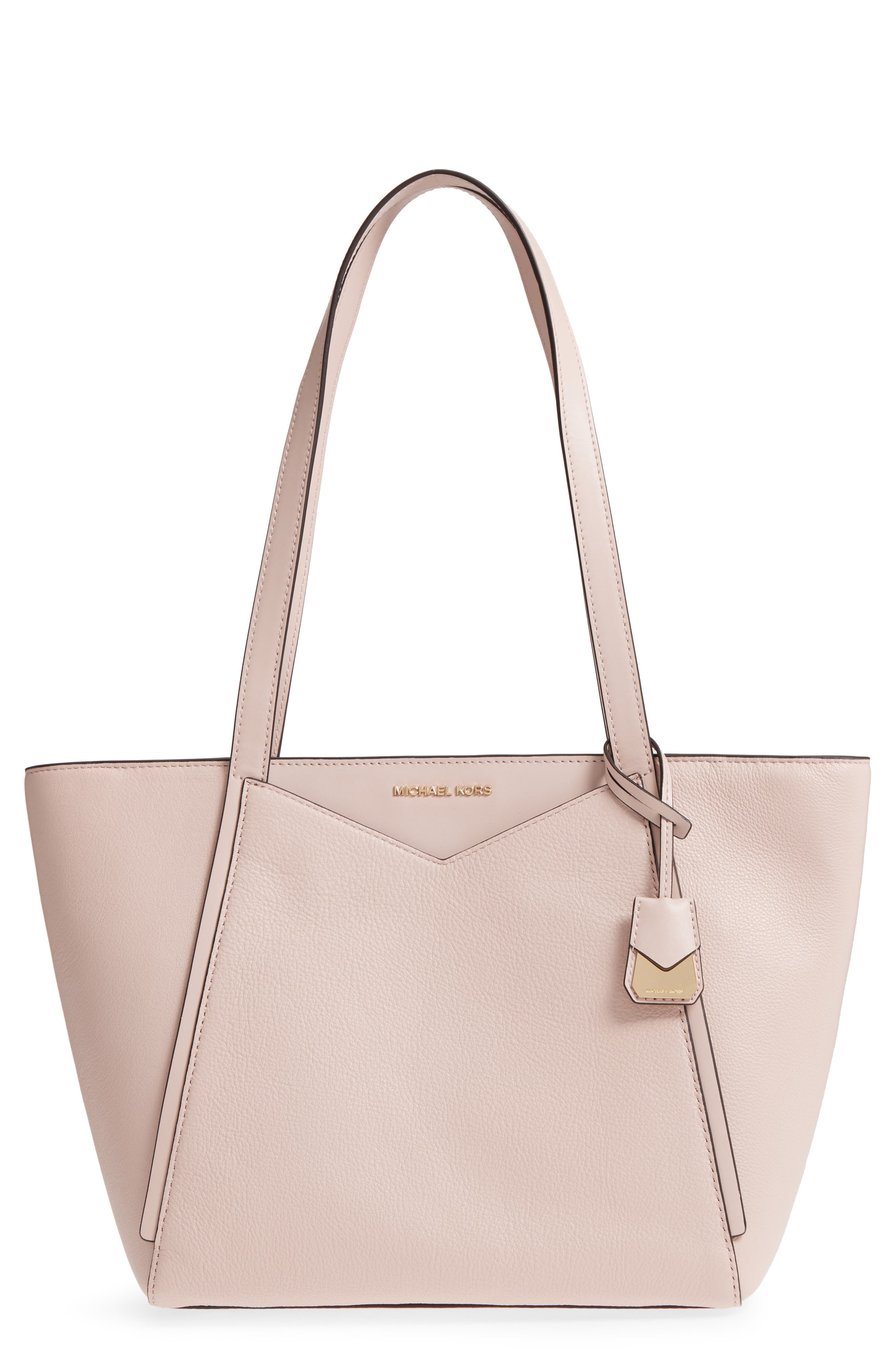 Small Whitney Leather Tote,                             Main thumbnail 4, color,