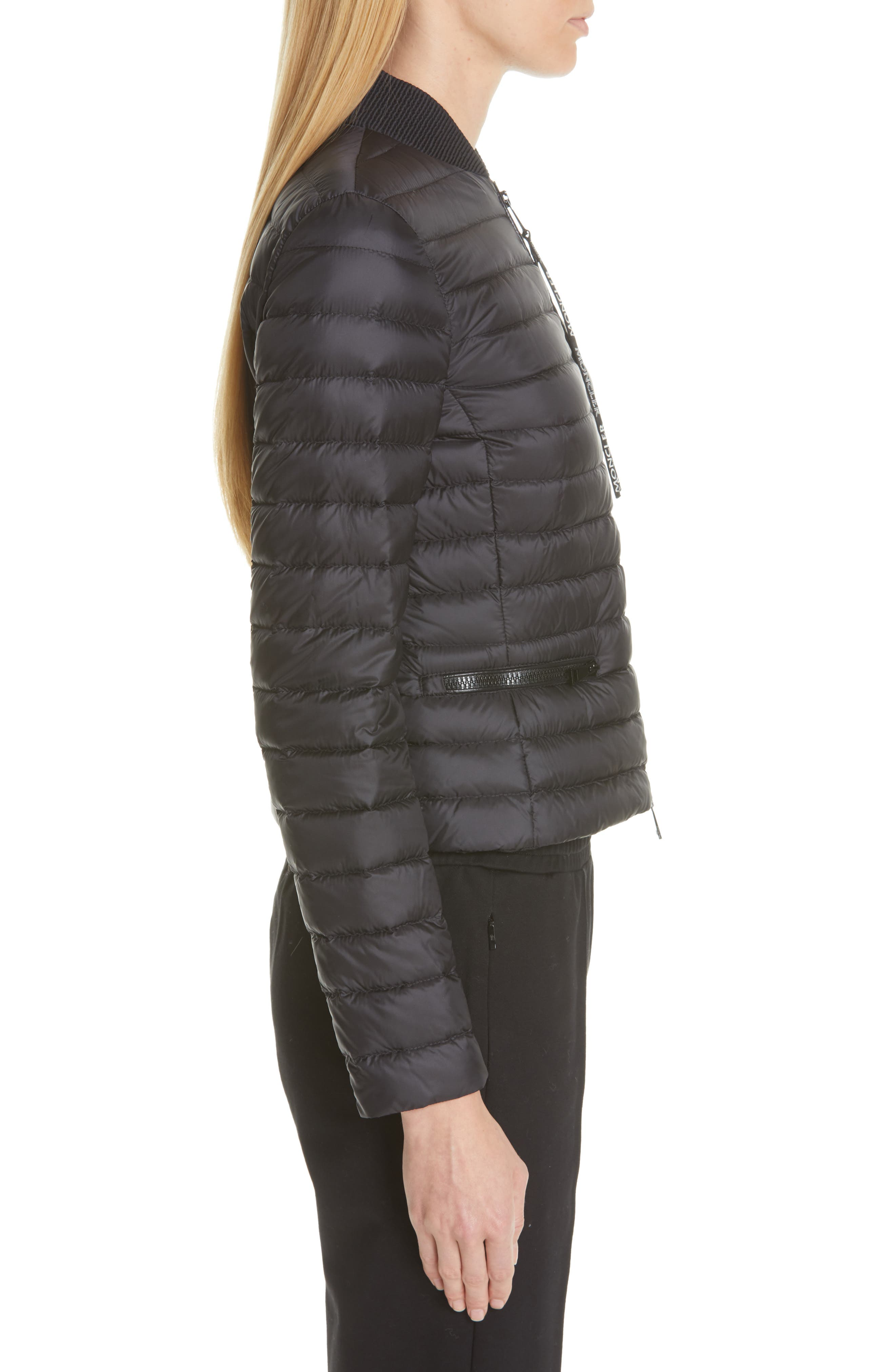 Blenca Quilted Down Jacket,                             Alternate thumbnail 3, color,                             BLACK