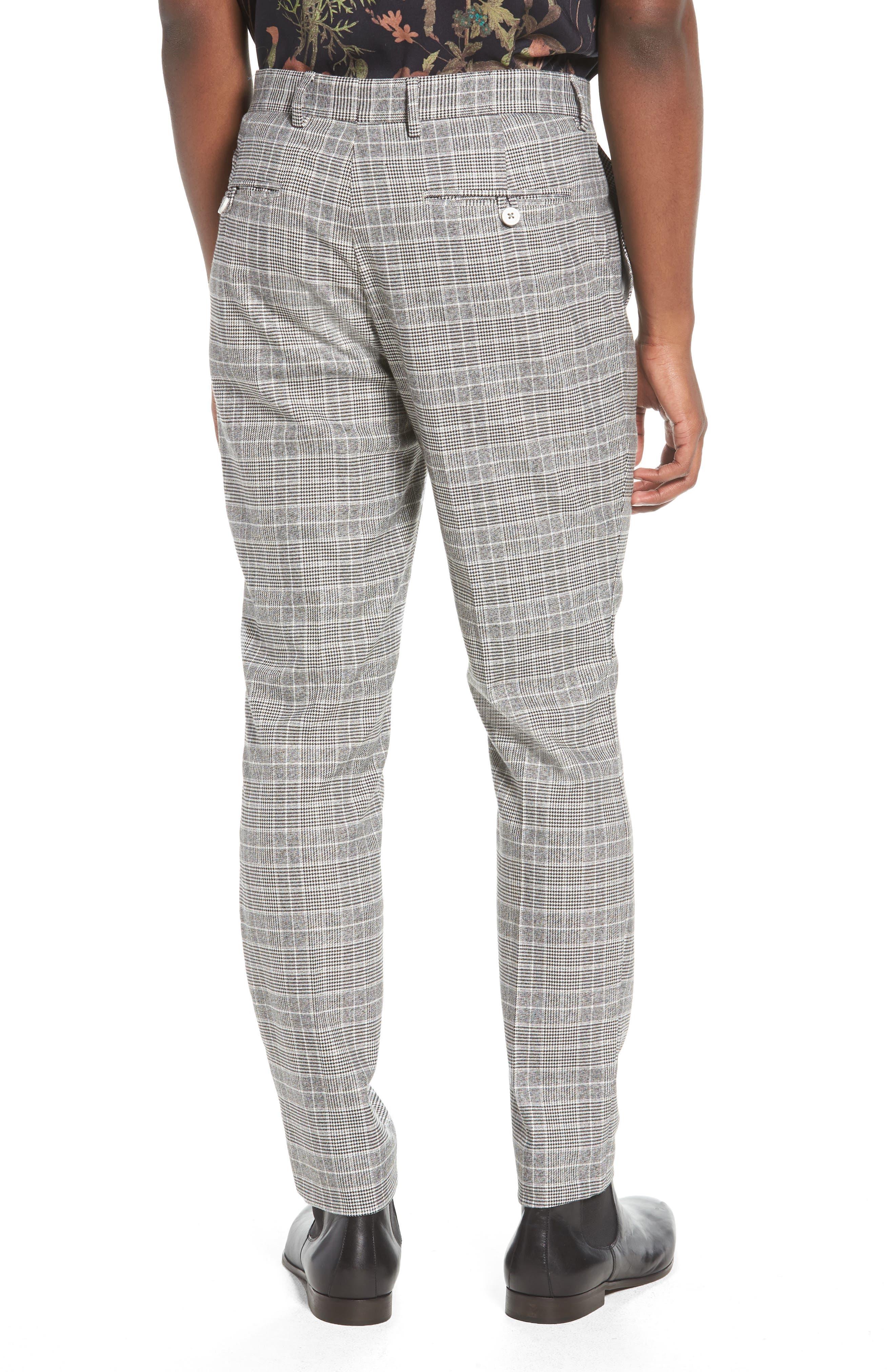 Check Trousers,                             Alternate thumbnail 2, color,                             BLACK