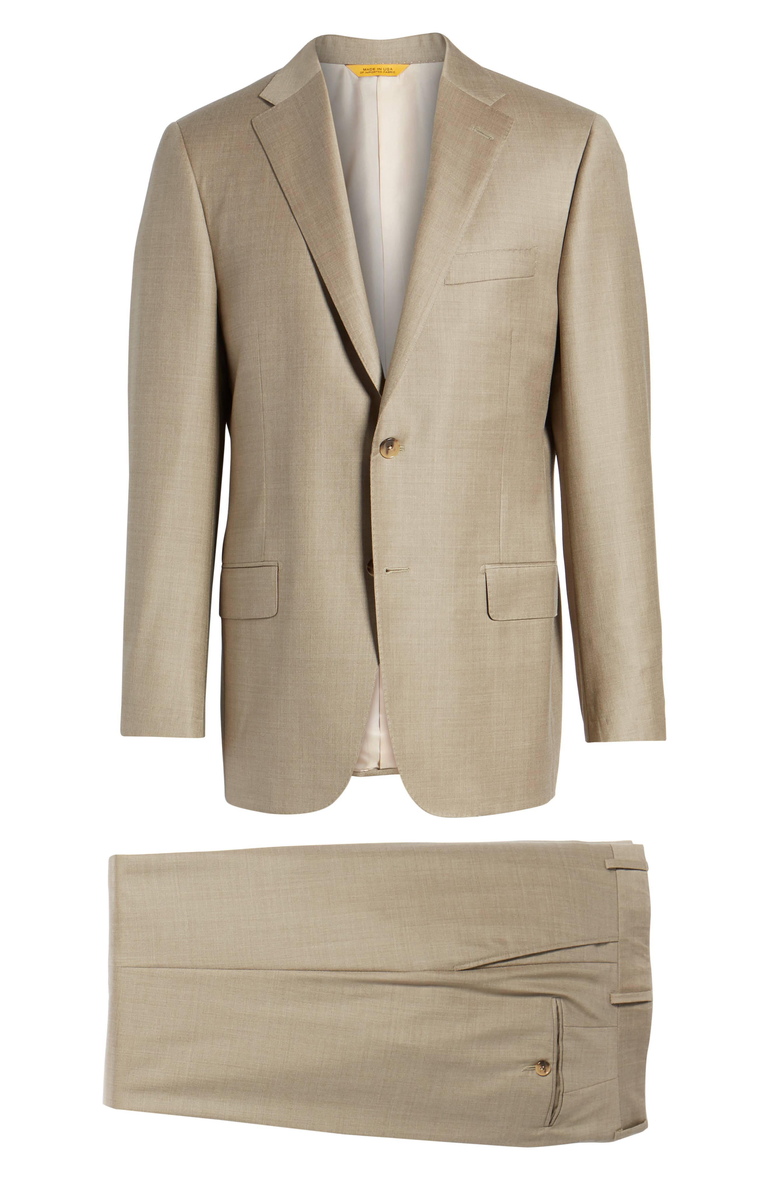 Classic B Fit Solid Wool Suit,                             Alternate thumbnail 7, color,                             250