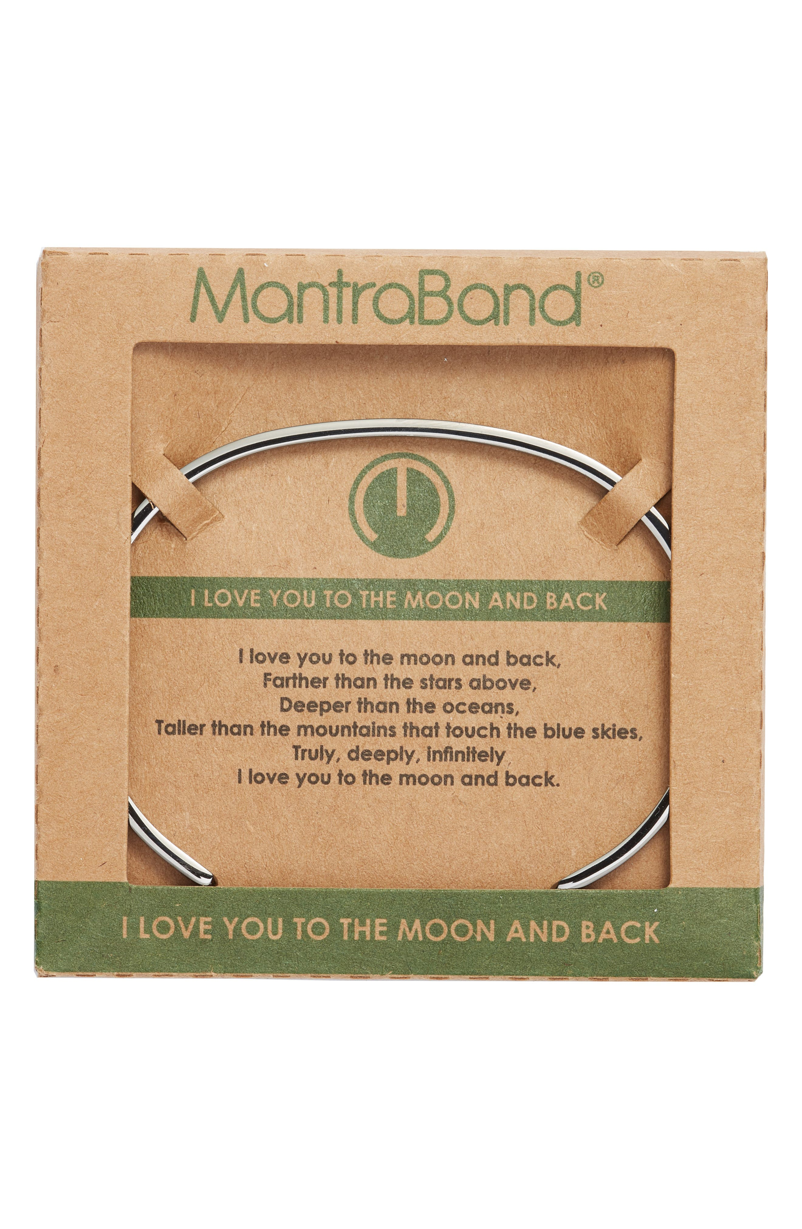 'I Love You to the Moon and Back' Cuff,                             Alternate thumbnail 2, color,                             MOON GRAY