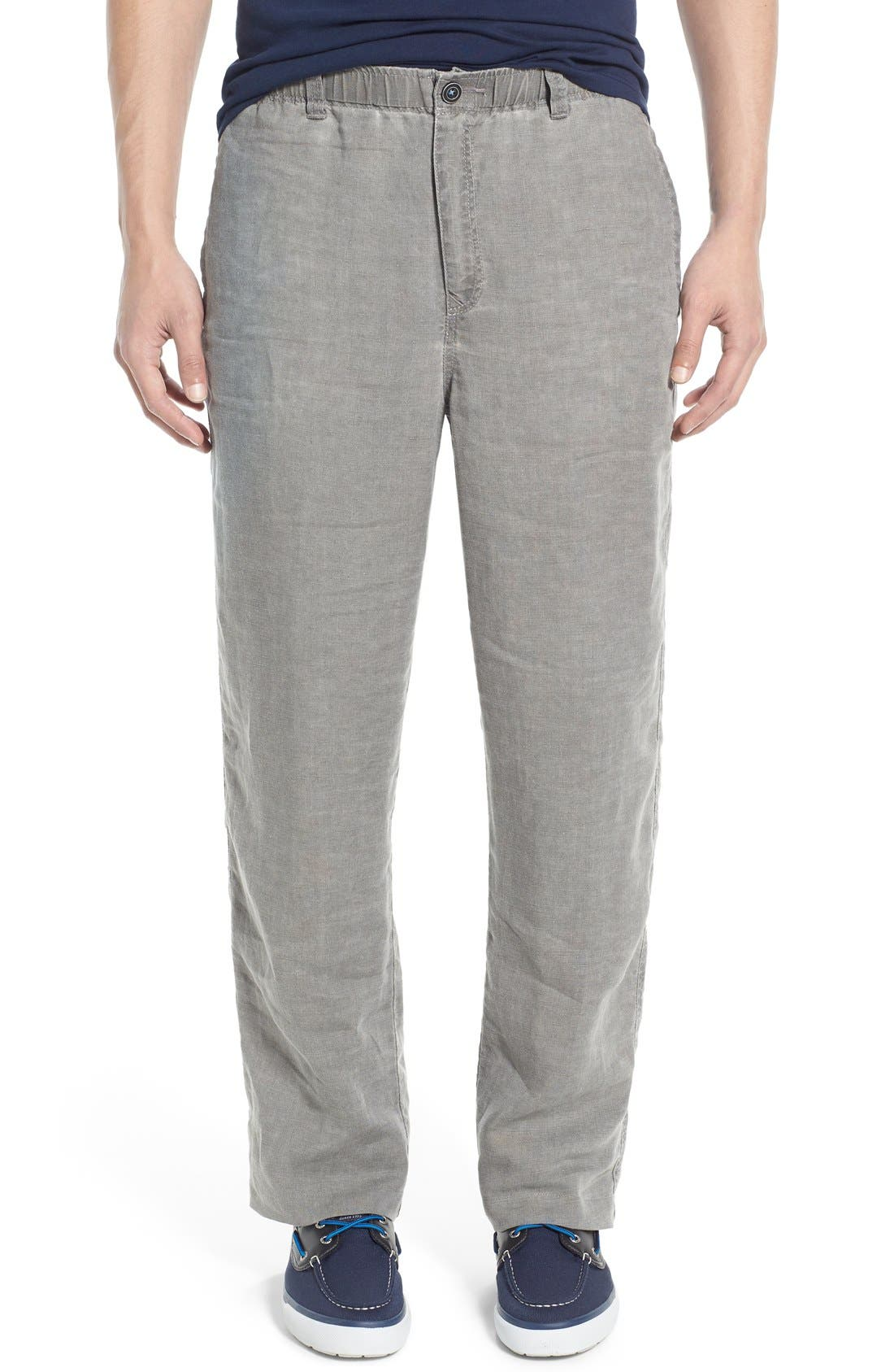 'New Linen on the Beach' Easy Fit Pants,                             Main thumbnail 4, color,