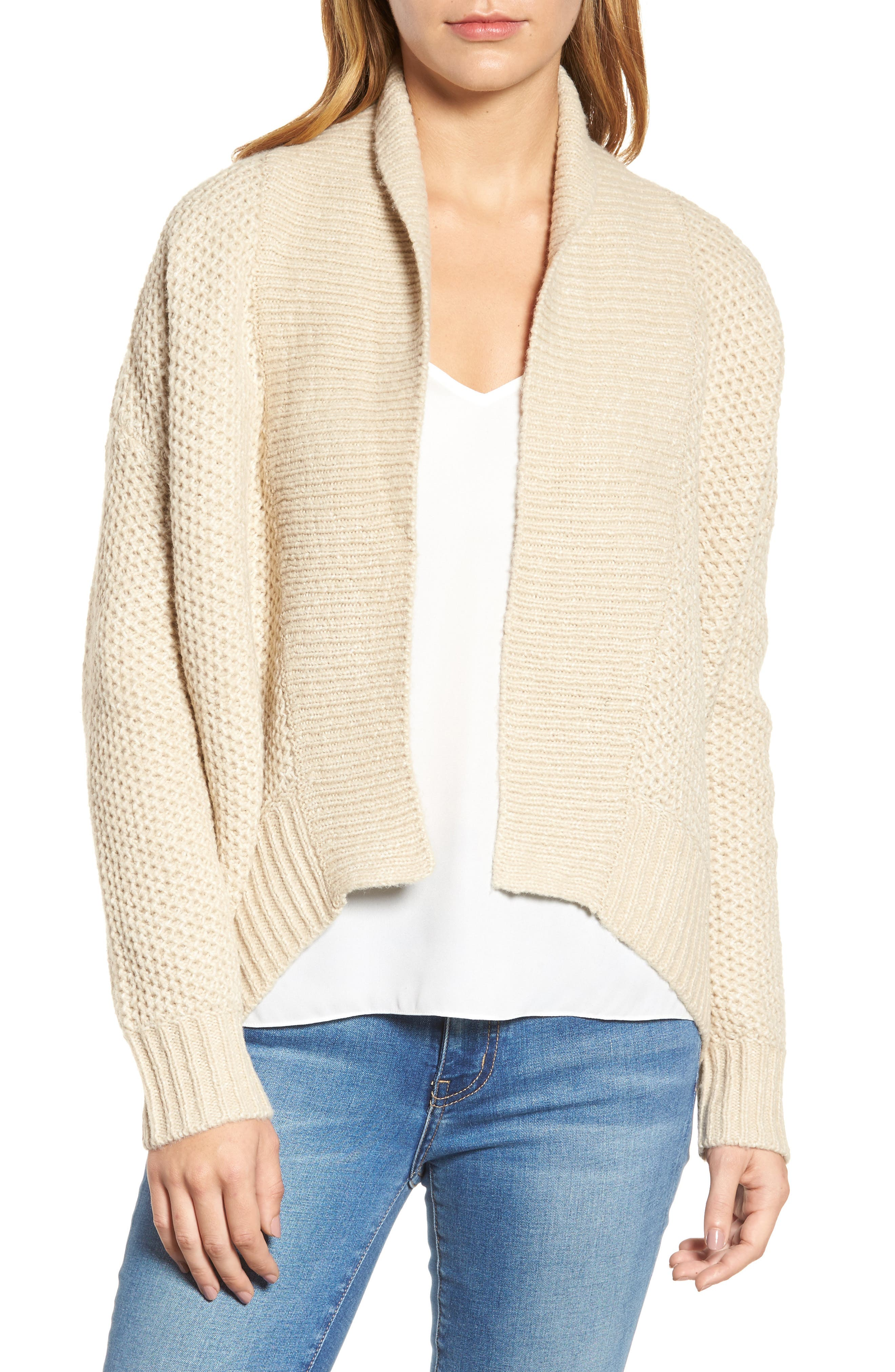 Drape Front Knit Cardigan,                         Main,                         color,