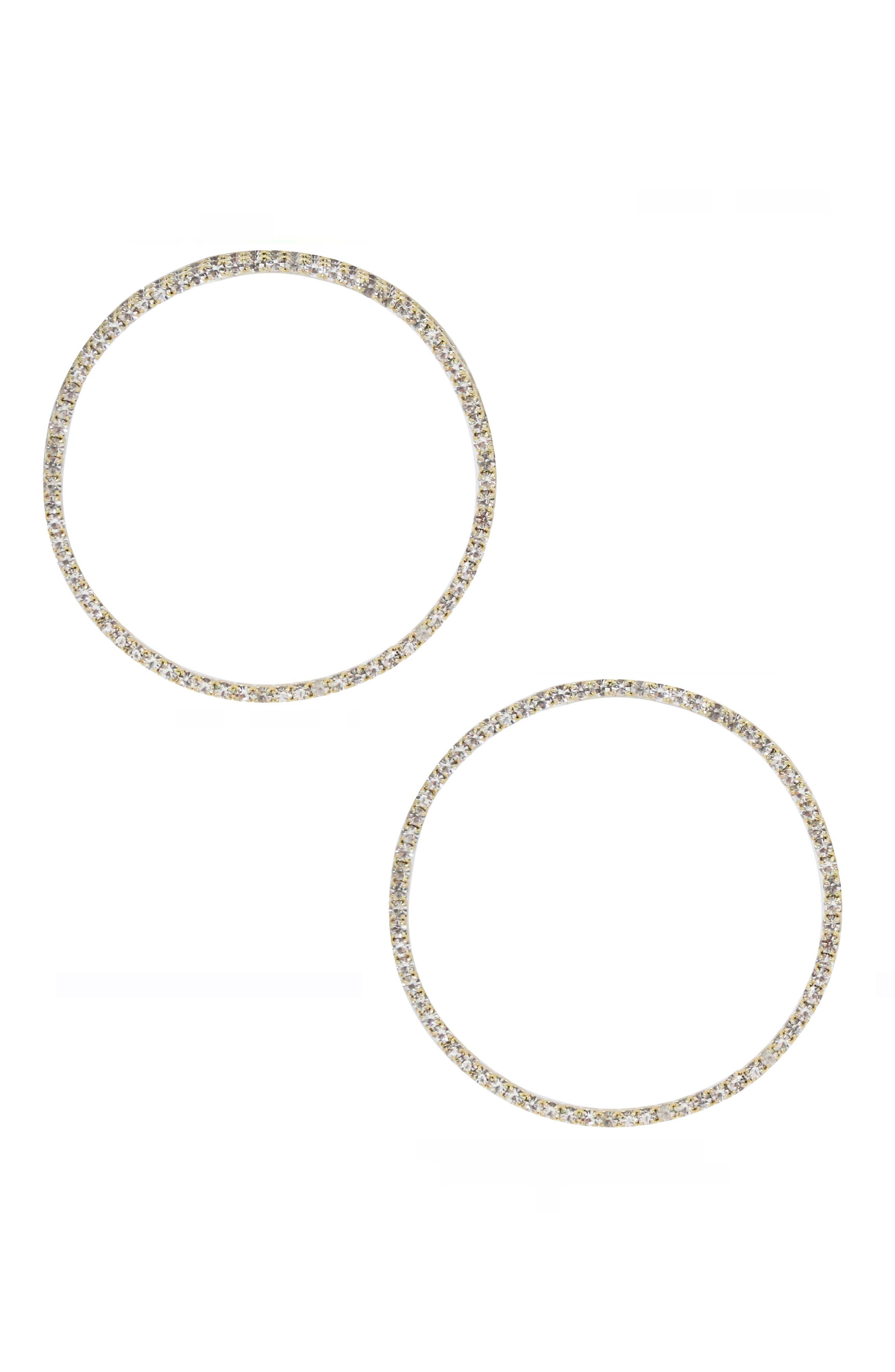 ETTIKA Crystal Hoop Earrings in Gold