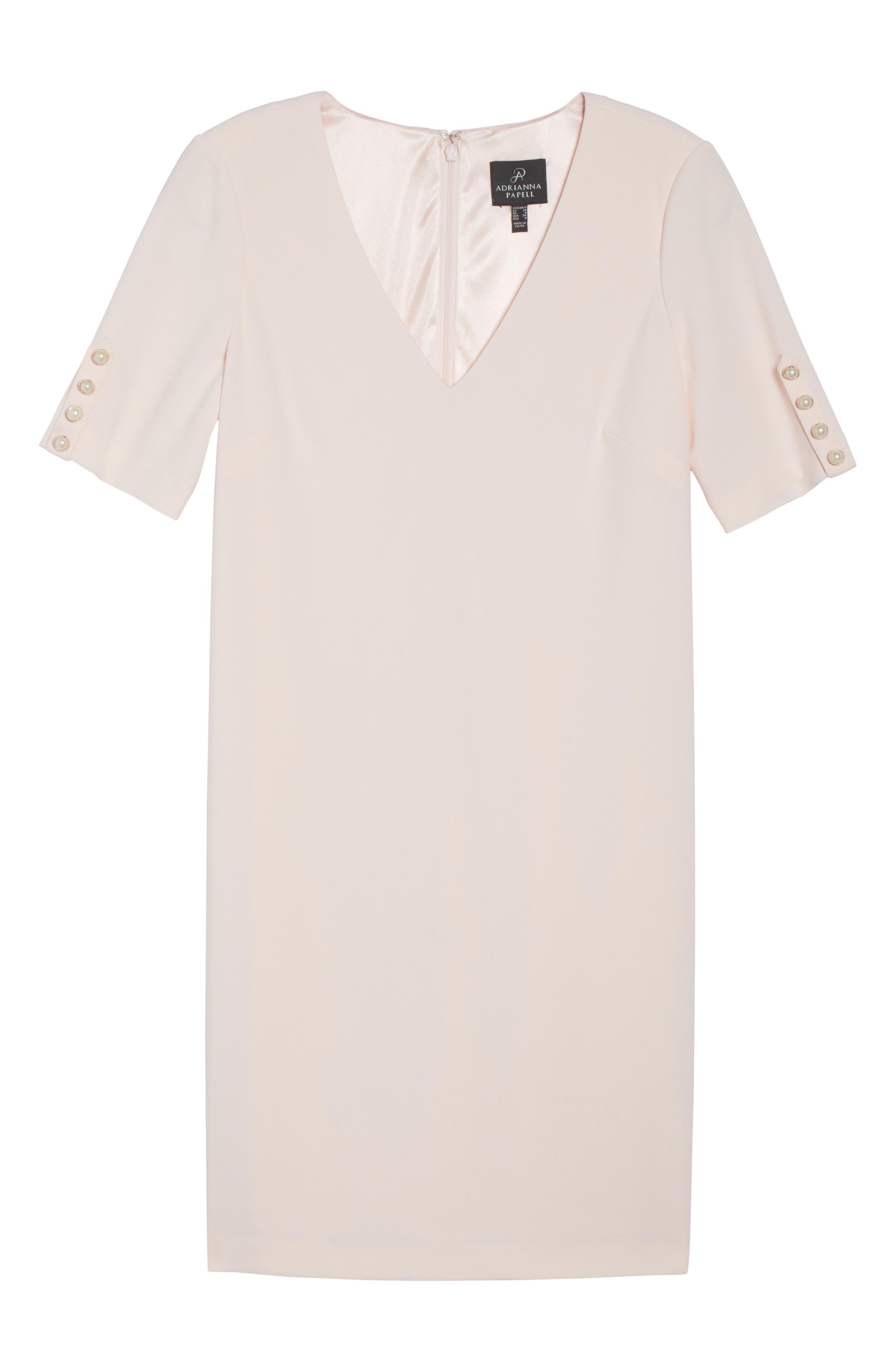 Button Sleeve Shift Dress,                             Alternate thumbnail 6, color,