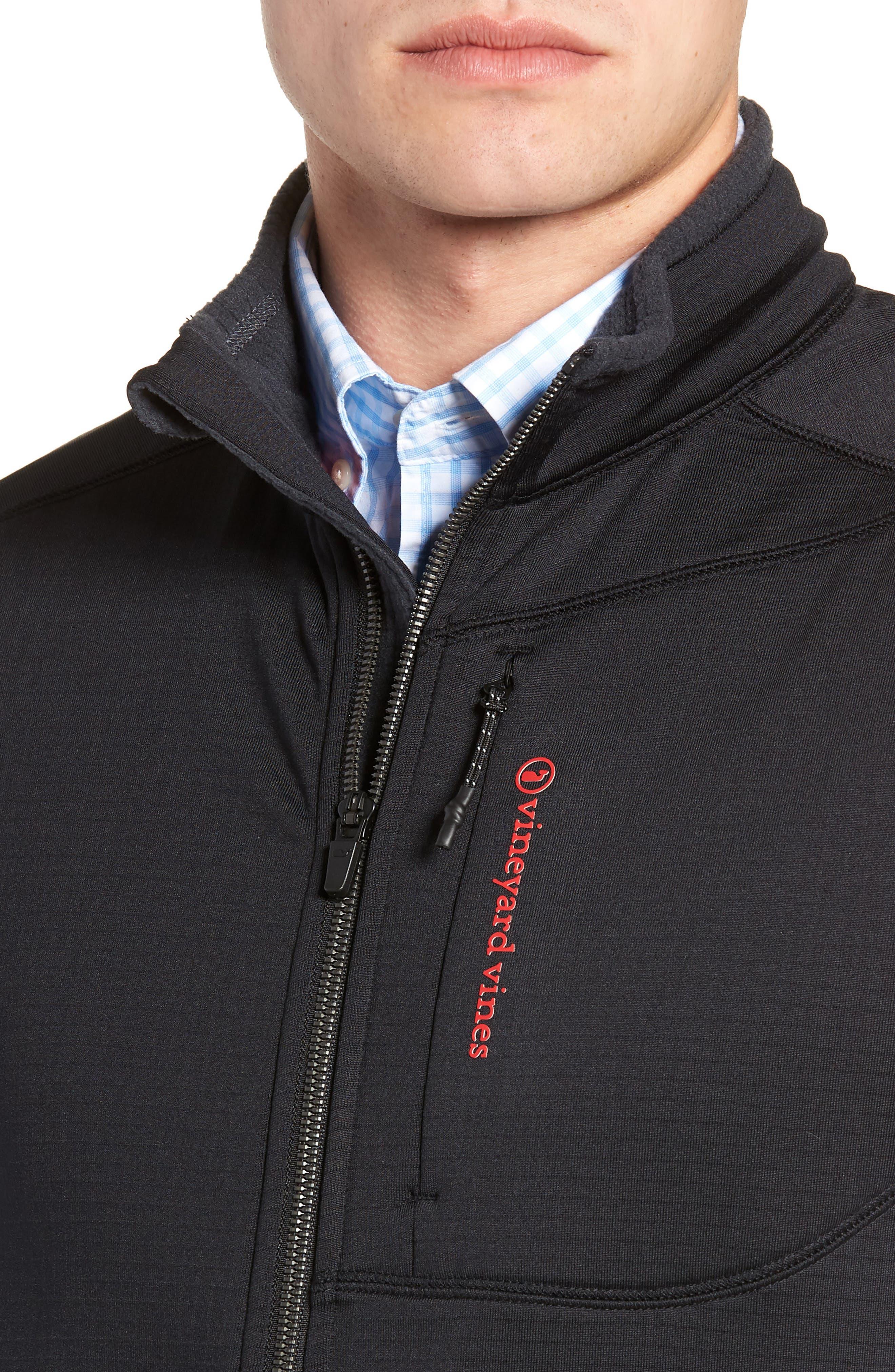 Grid Ripstop Fleece Vest,                             Alternate thumbnail 4, color,                             002