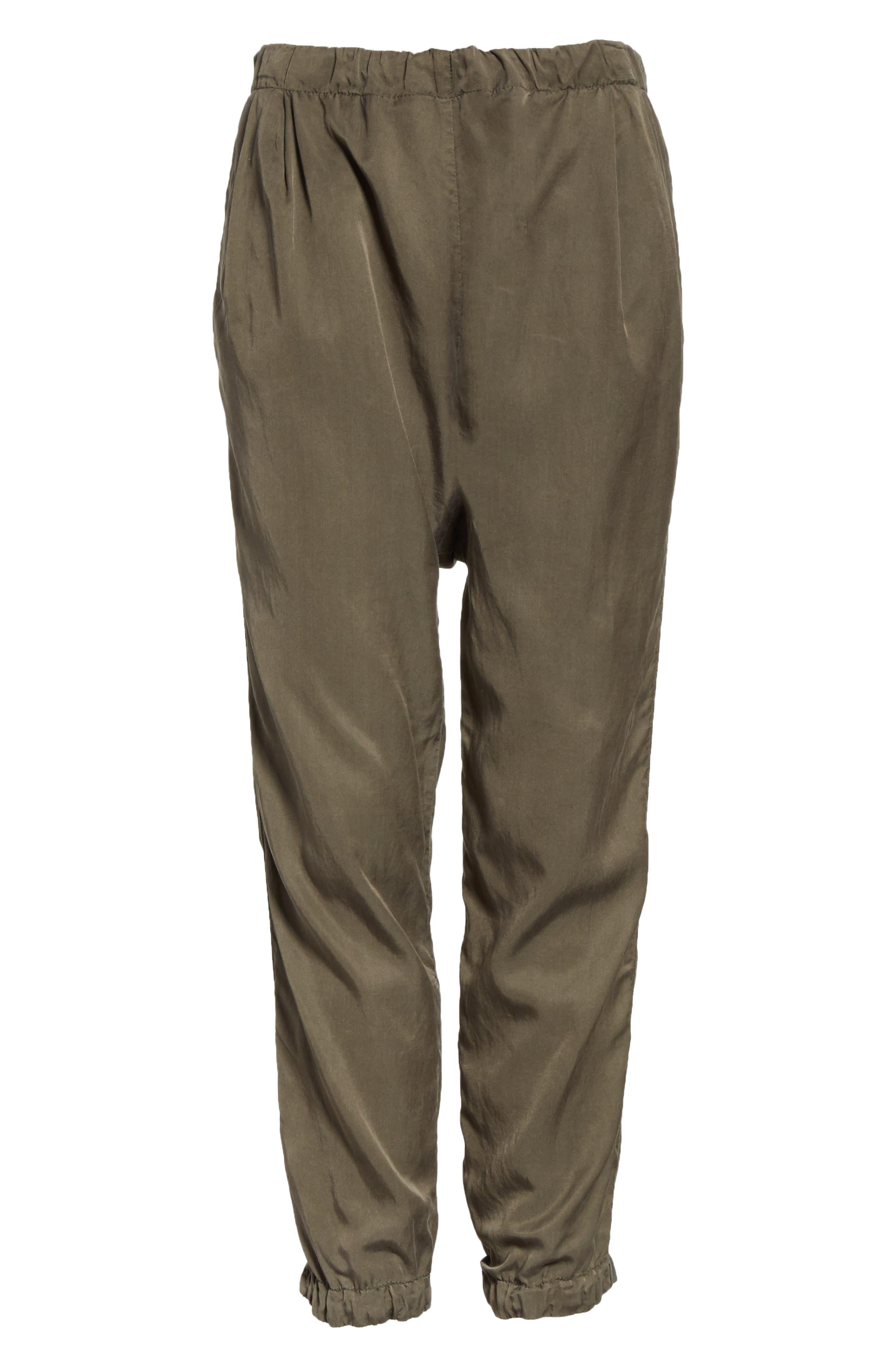 Silk Blend Track Pants,                             Alternate thumbnail 6, color,                             346