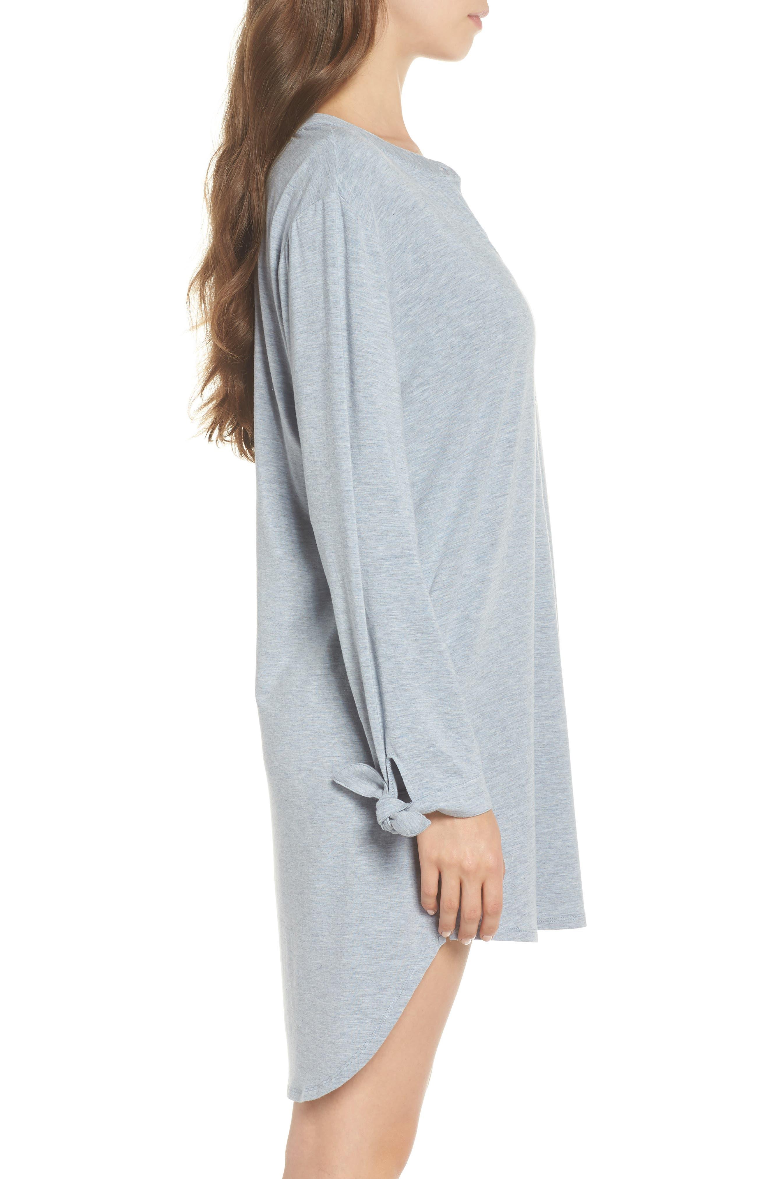 Breathe Modal Jersey Sleep Shirt,                             Alternate thumbnail 6, color,