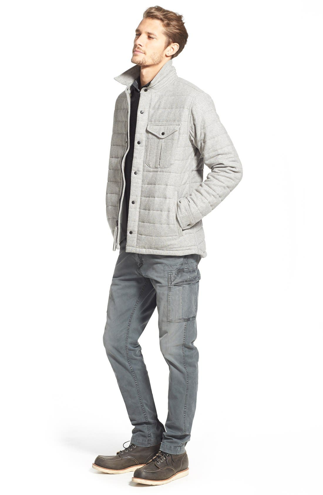 Quilted Field Jacket,                             Alternate thumbnail 6, color,                             050