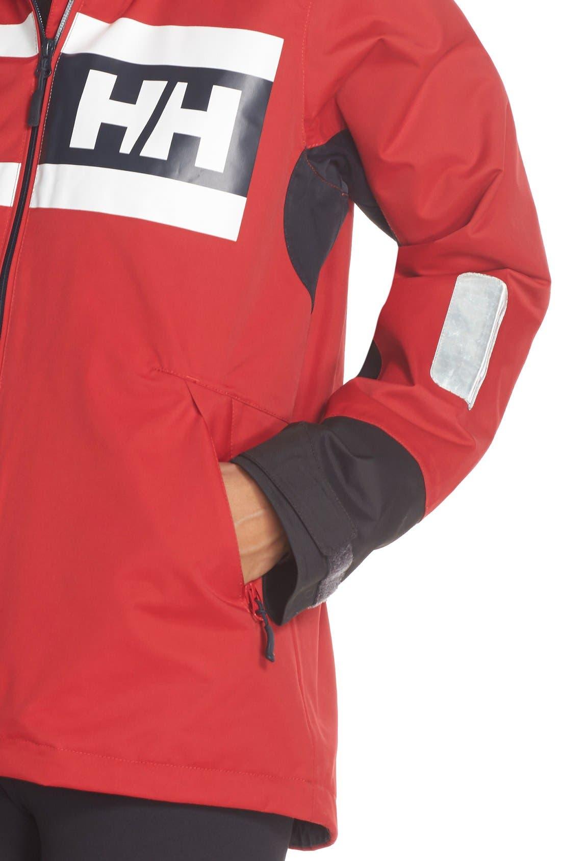 'Salt Power' Waterproof Jacket,                             Alternate thumbnail 5, color,                             600