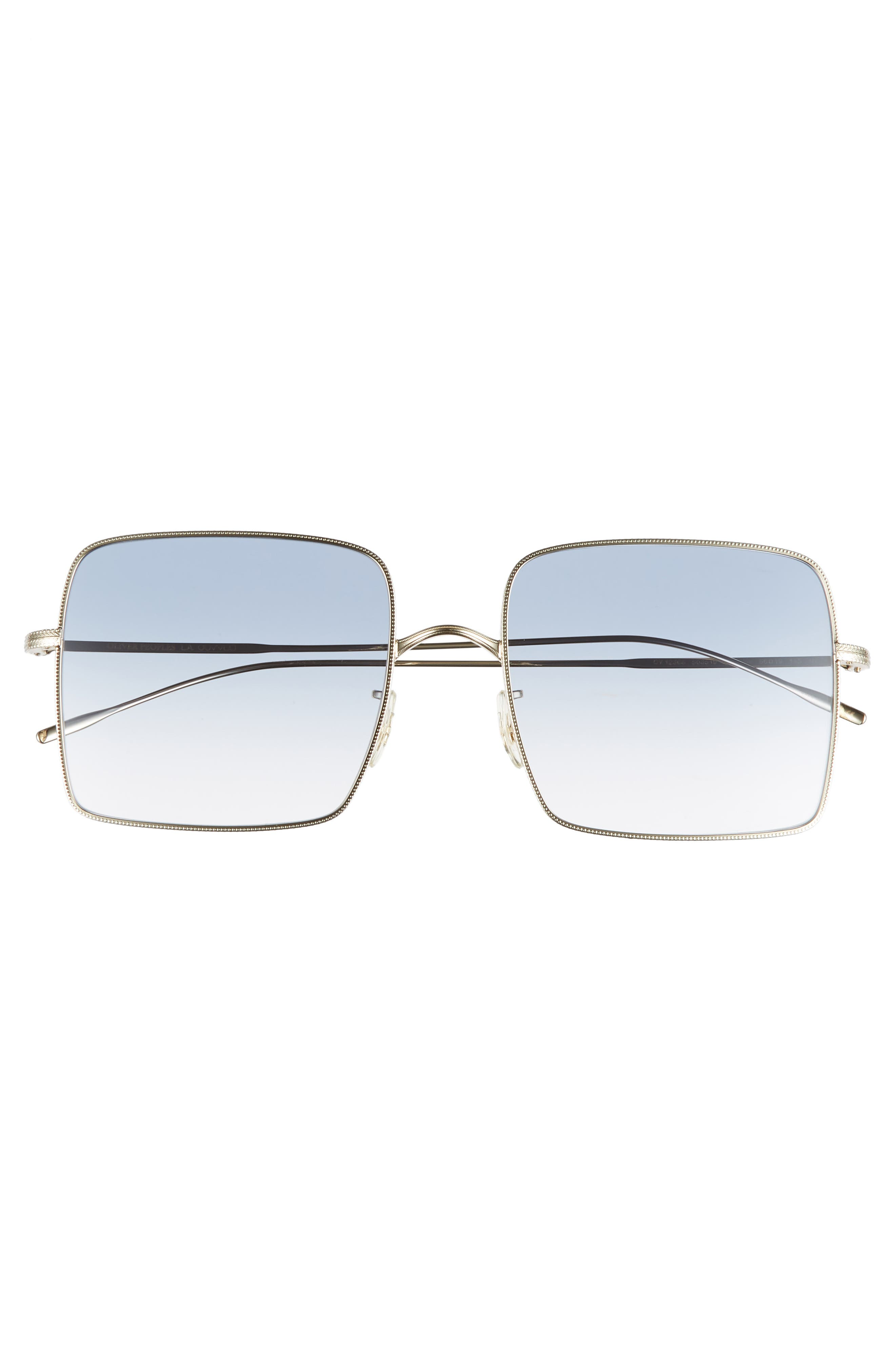 Rassine 56mm Sunglasses,                             Alternate thumbnail 3, color,                             SOFT GOLD BLUE